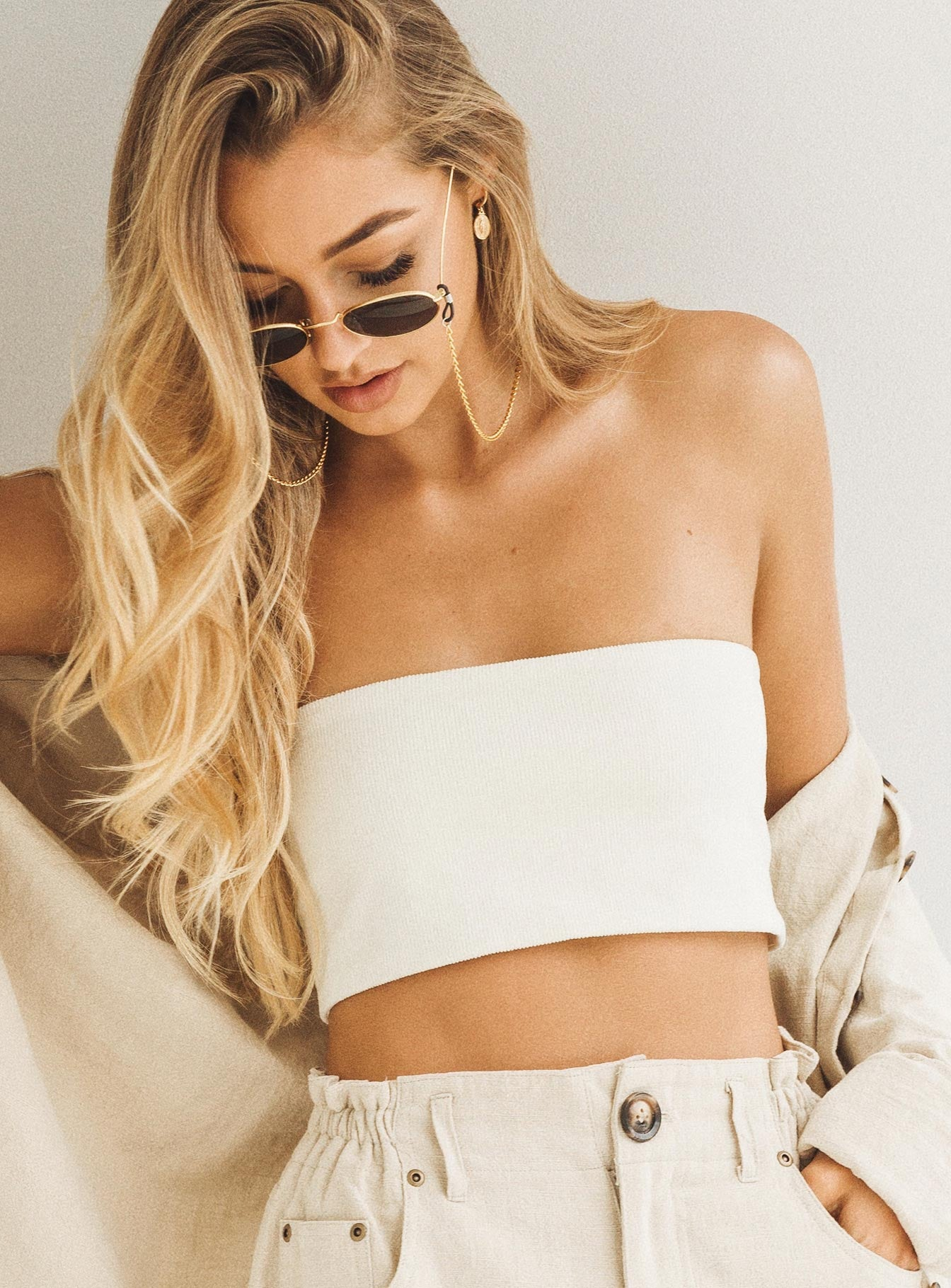 Chiquitita Crop Top White