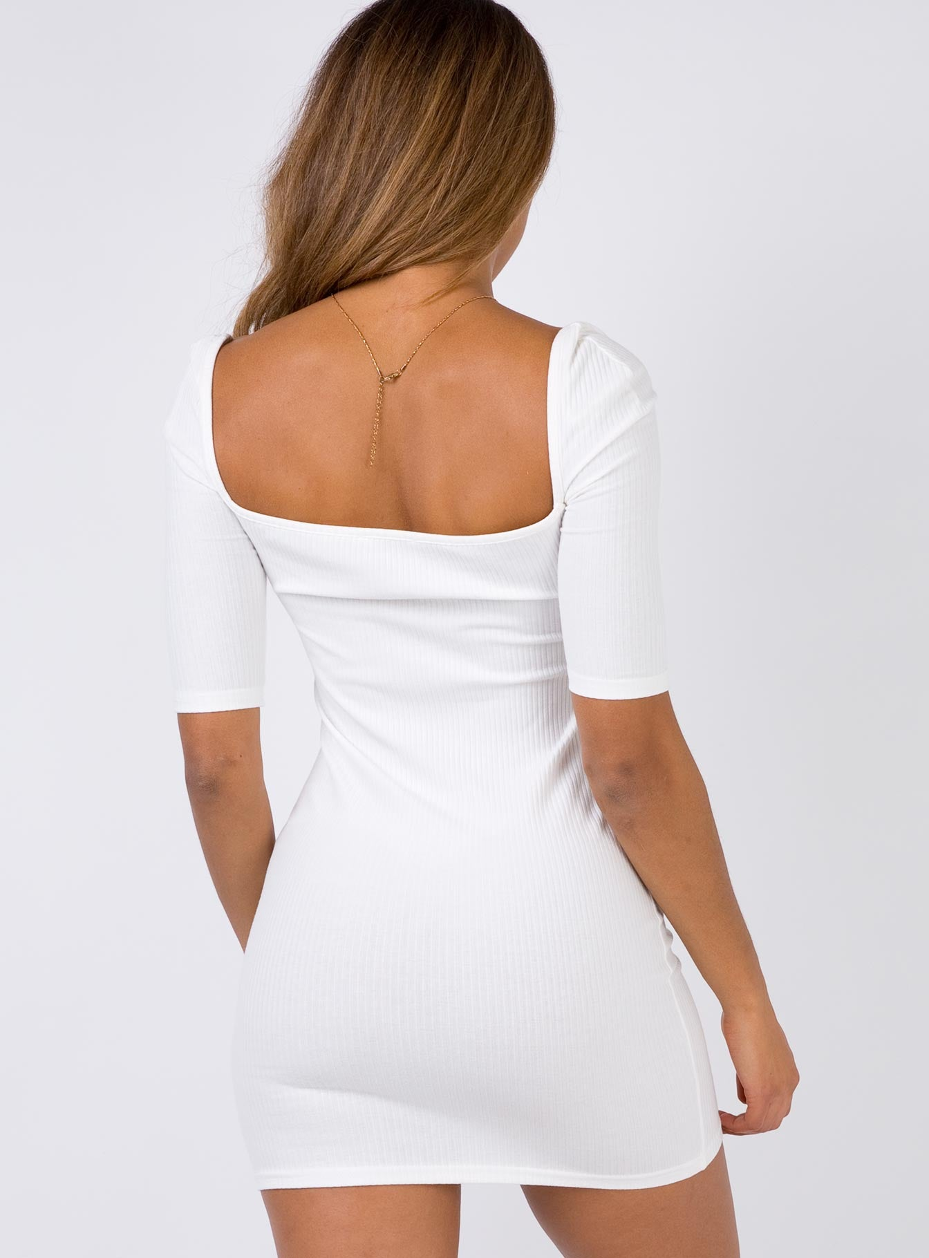 Night Is Young Mini Dress White