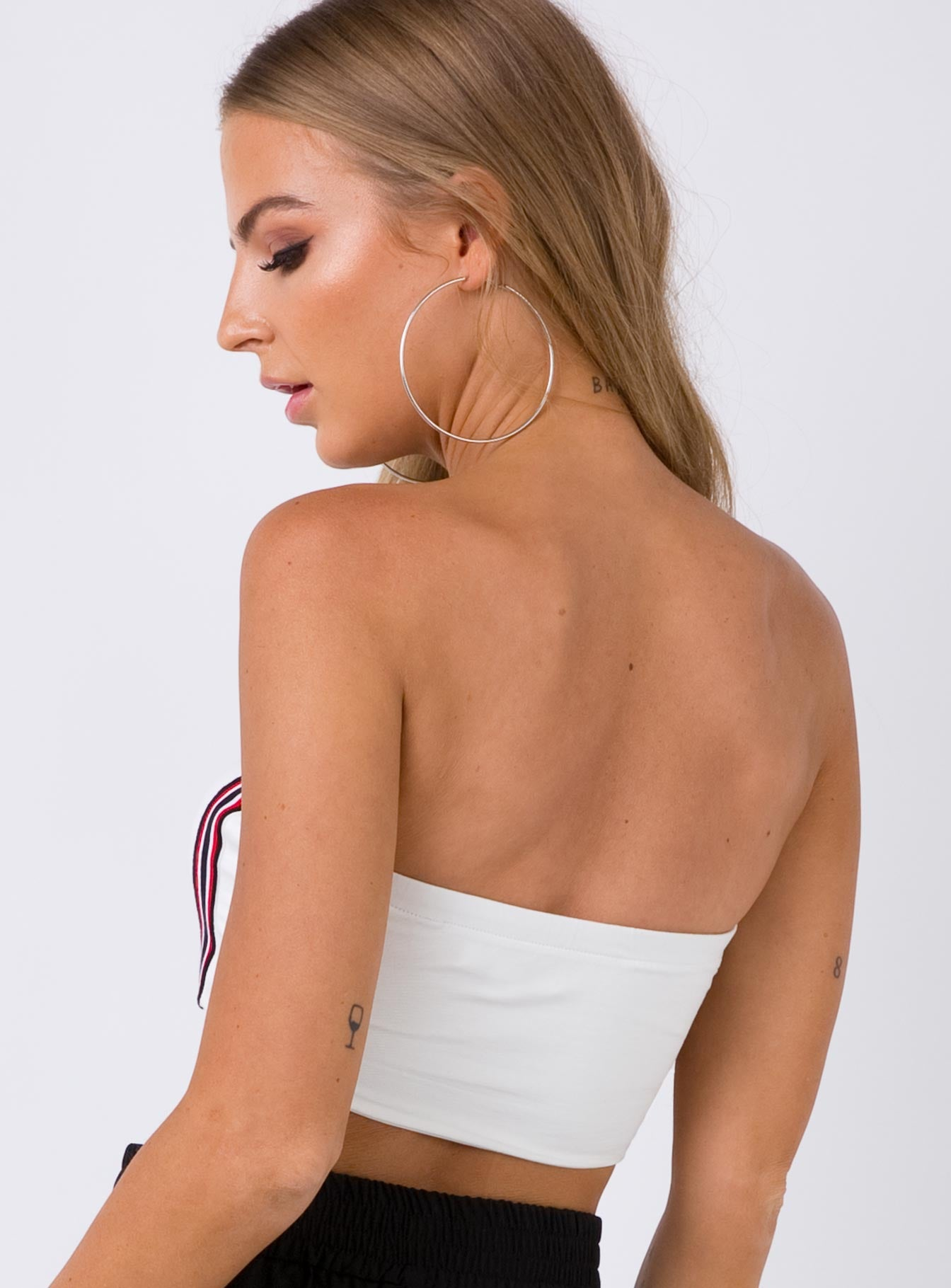 Summer Daze Crop Top White