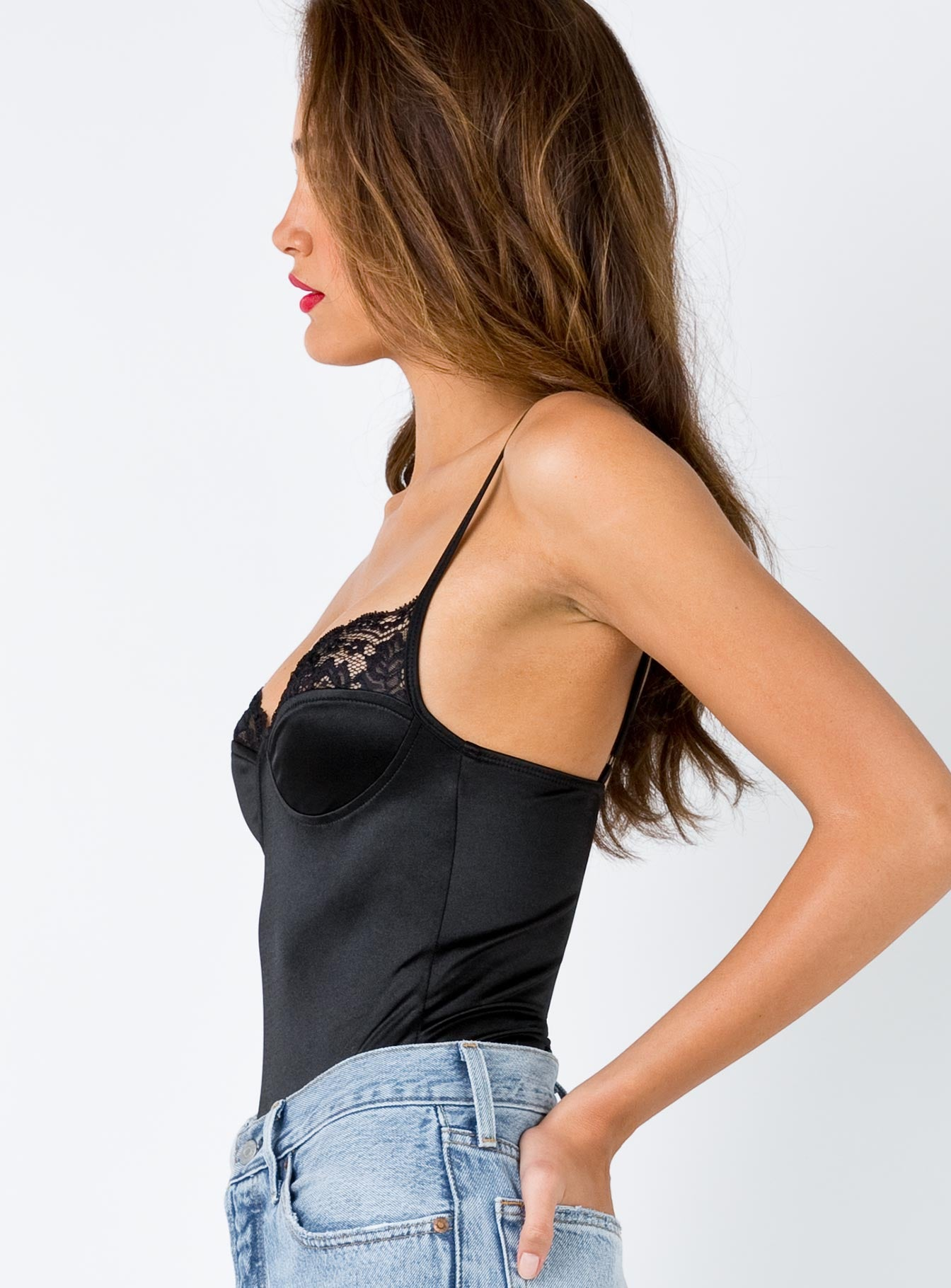 Motel Letta Bodice Black Lace