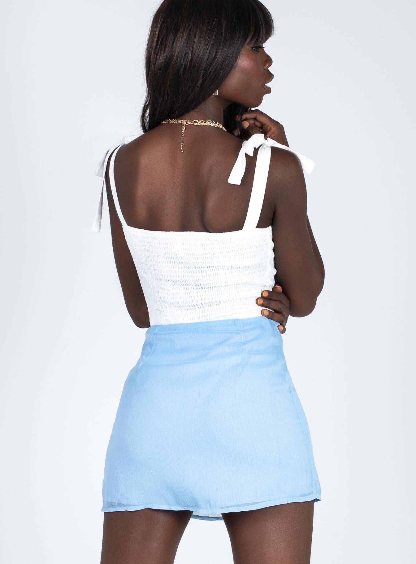 Hadley Mini Skirt Blue