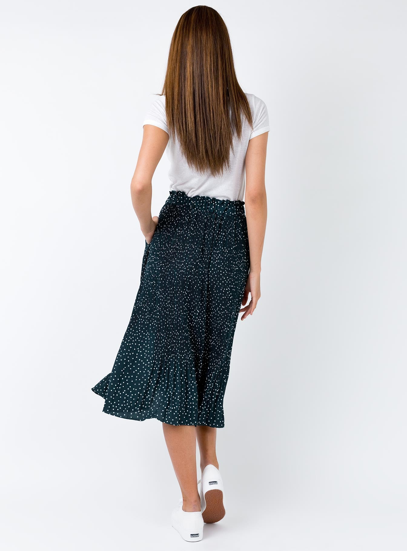 Nebula Maxi Skirt Green