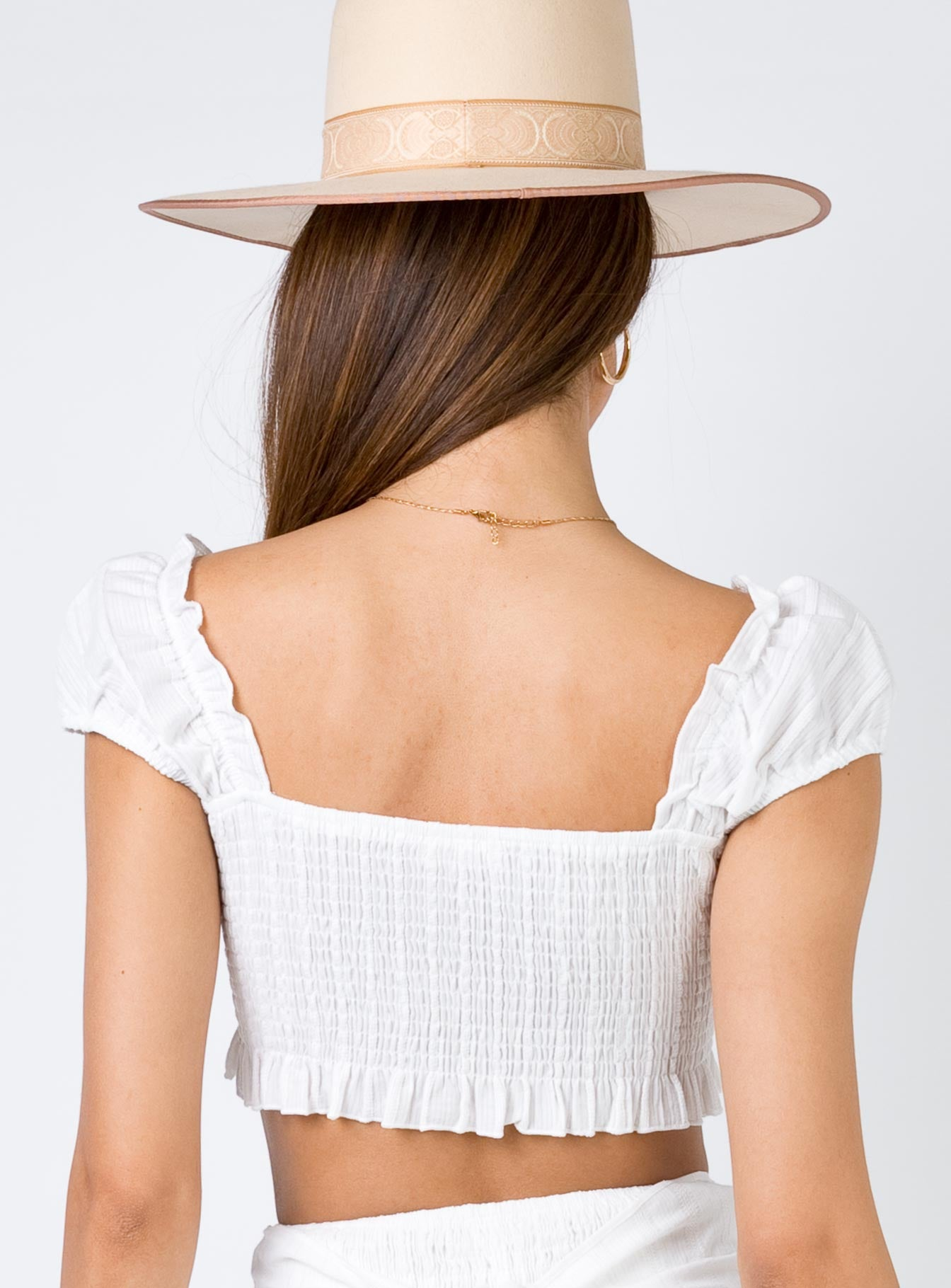 Sandstorm Crop Top White