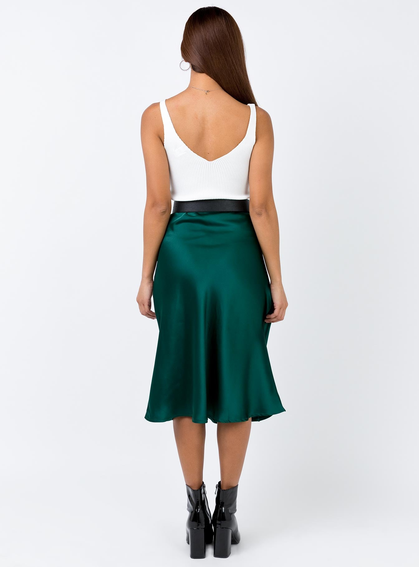 Zazu Midi Skirt Forest Green