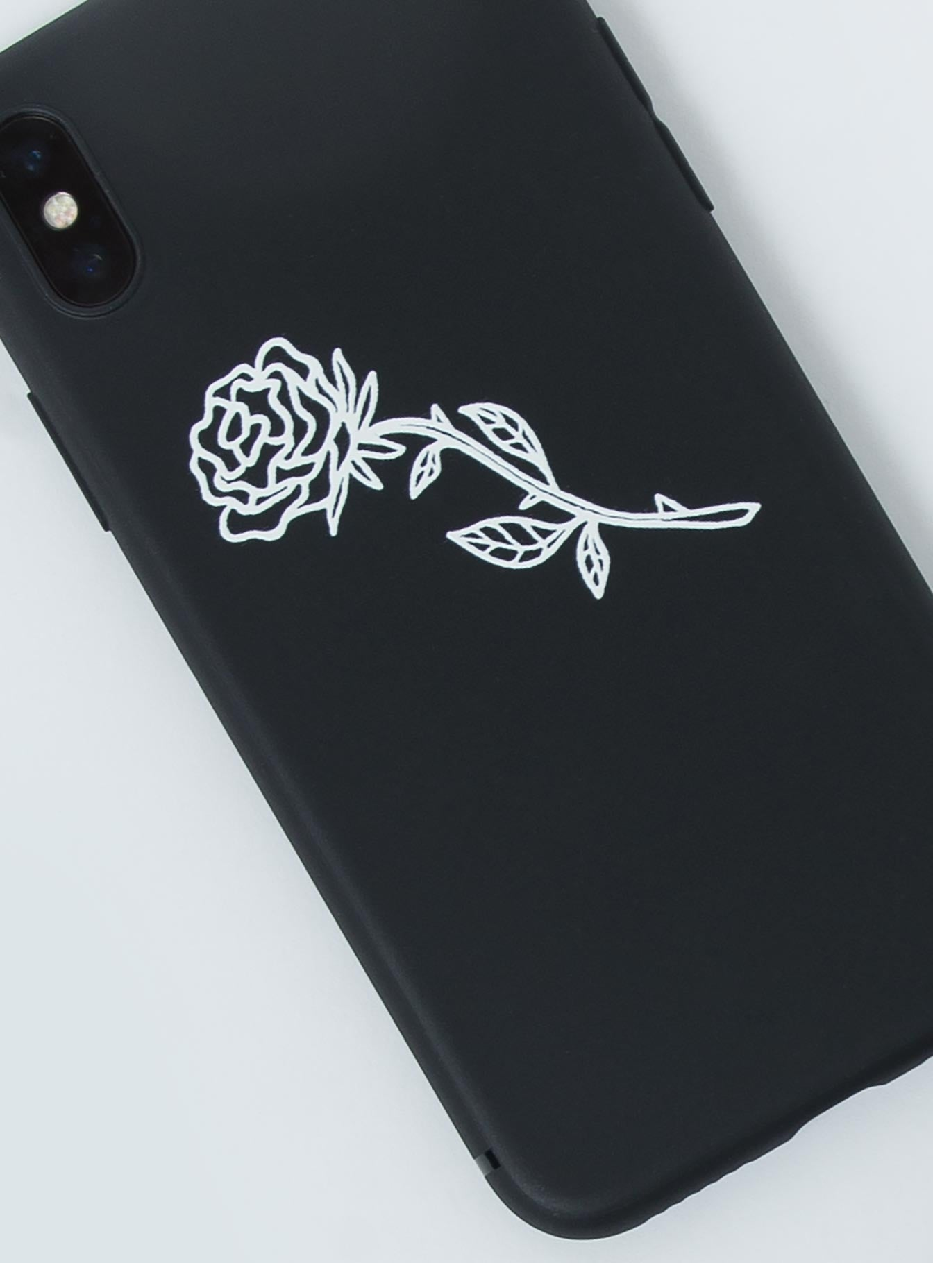 Soft Rose iPhone Case Black