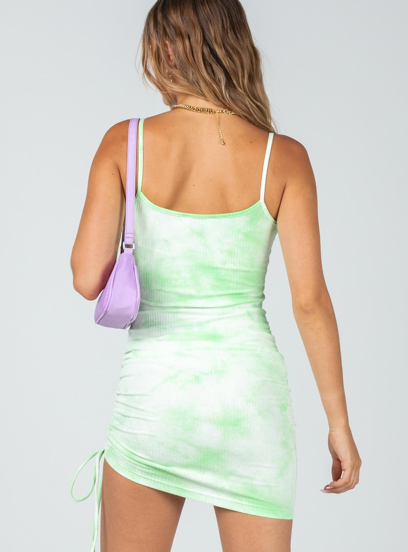 Siana Tie Dye Mini Dress Green