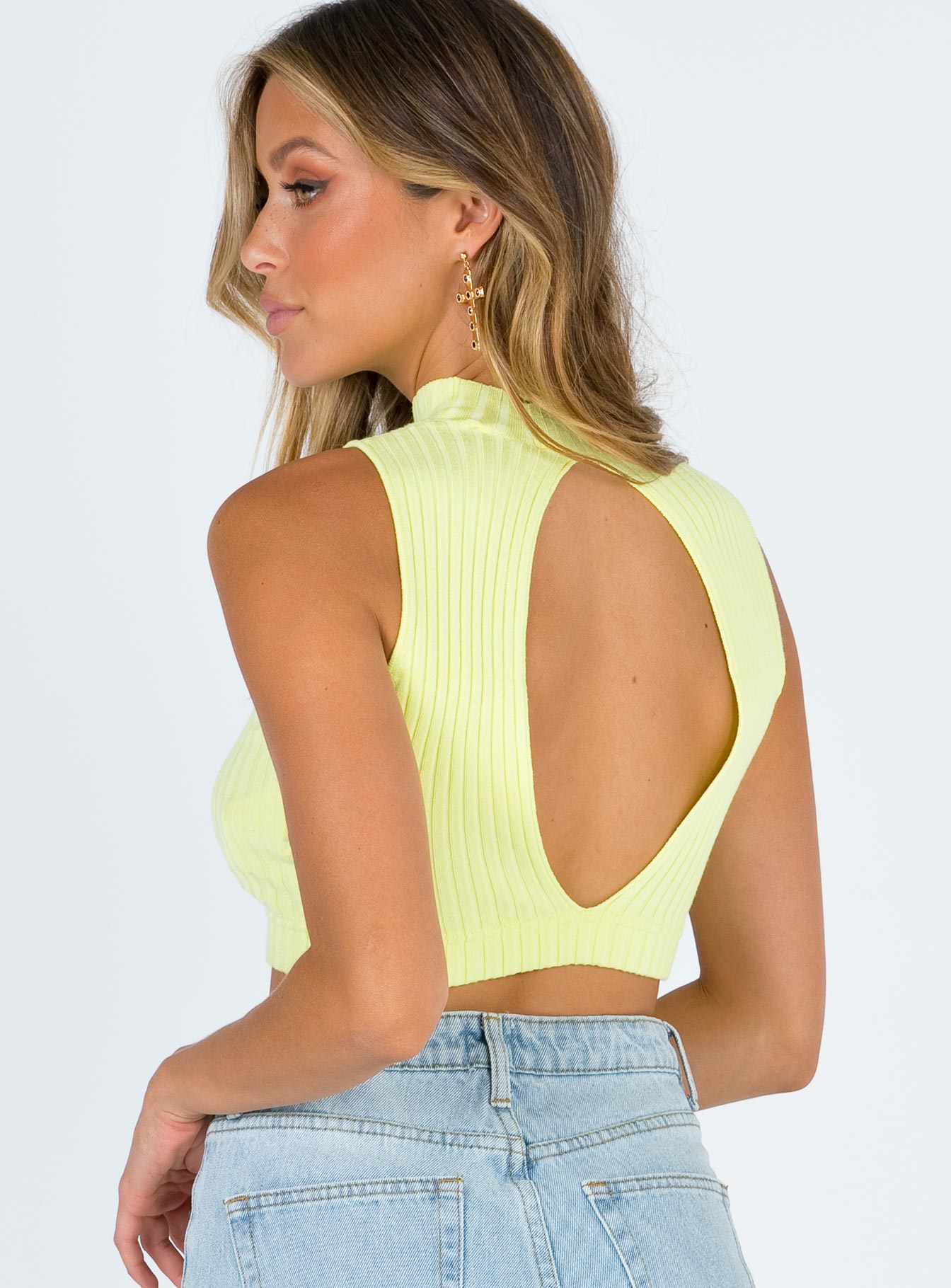 TWIIN Gaze Knit Crop