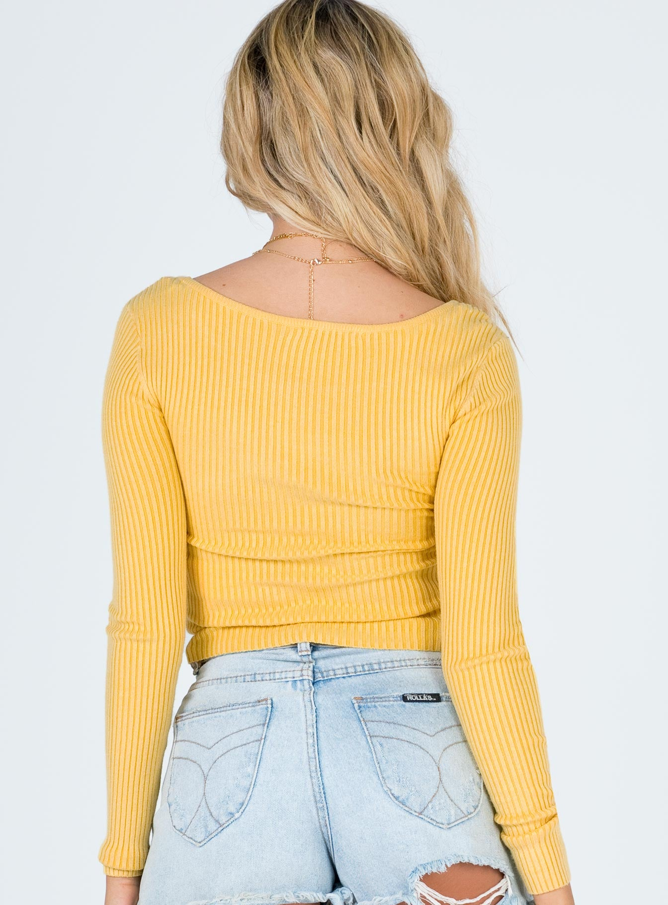 Minkpink Standford Scoop Neck Knit Lemon