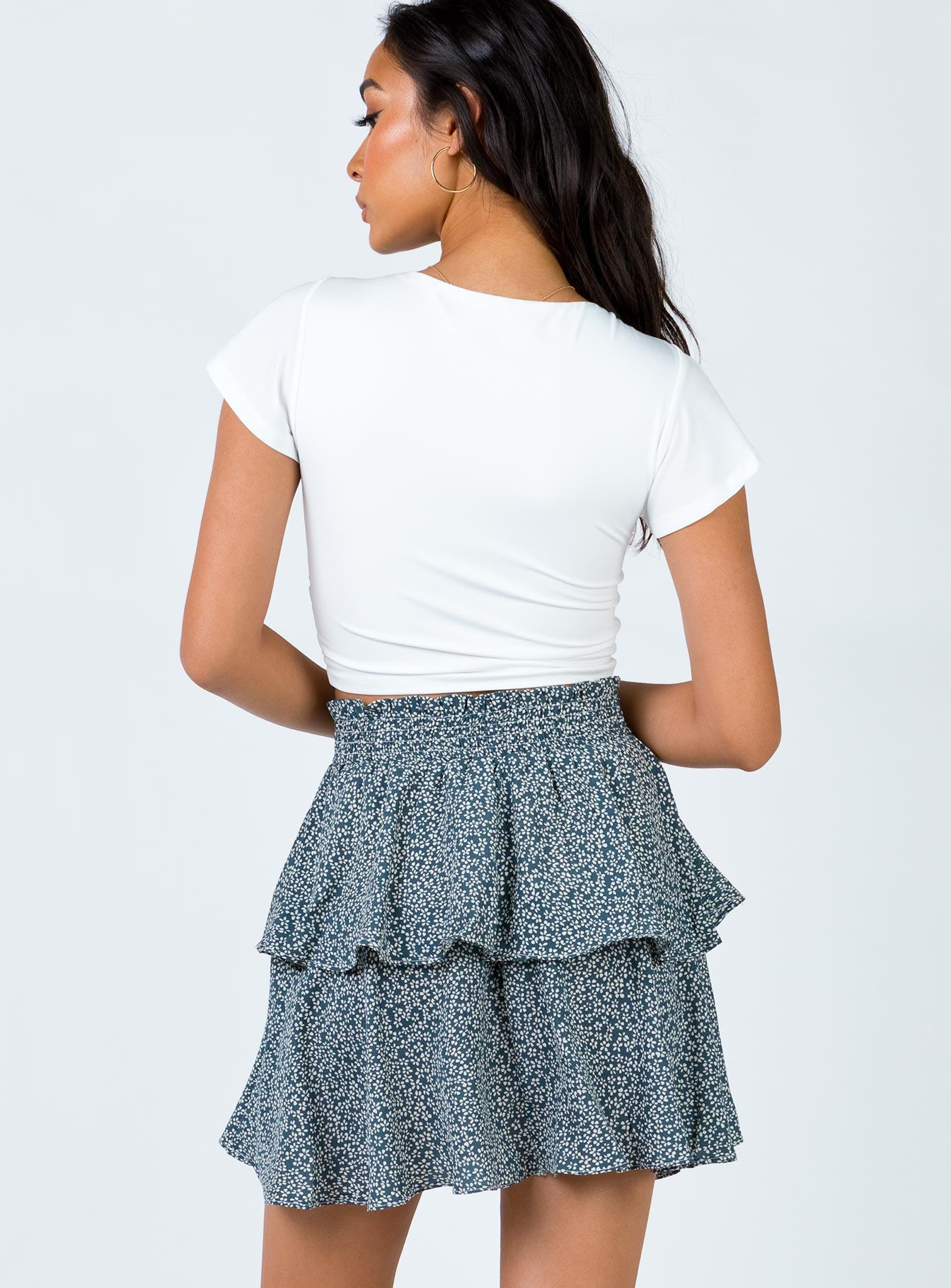 Keeling Mini Skirt Blue