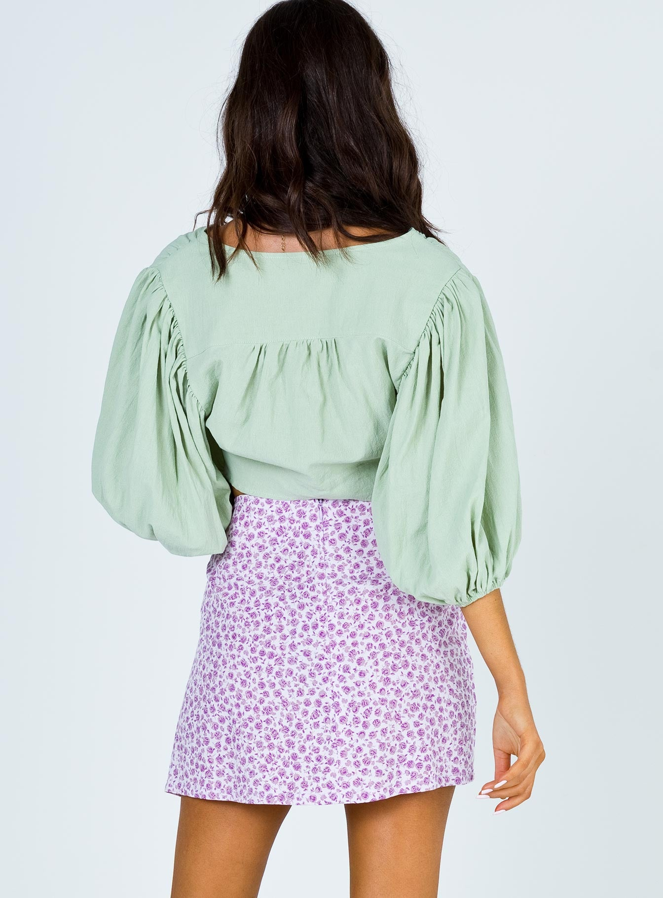 Motel Sheny Mini Skirt Disty Rose Lilac