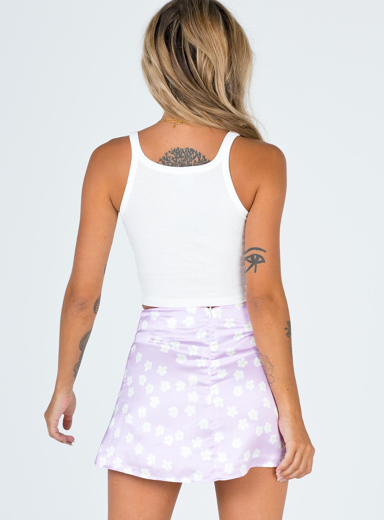The Olton Mini Skirt Lilac
