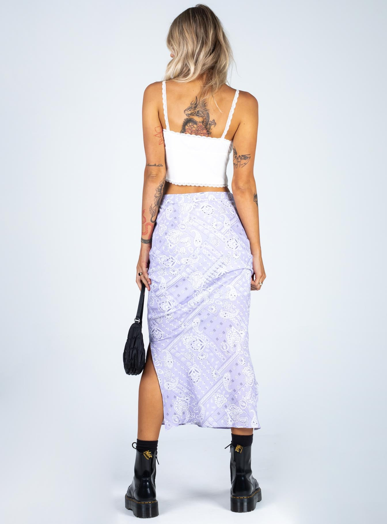 Elaine Midi Skirt Purple
