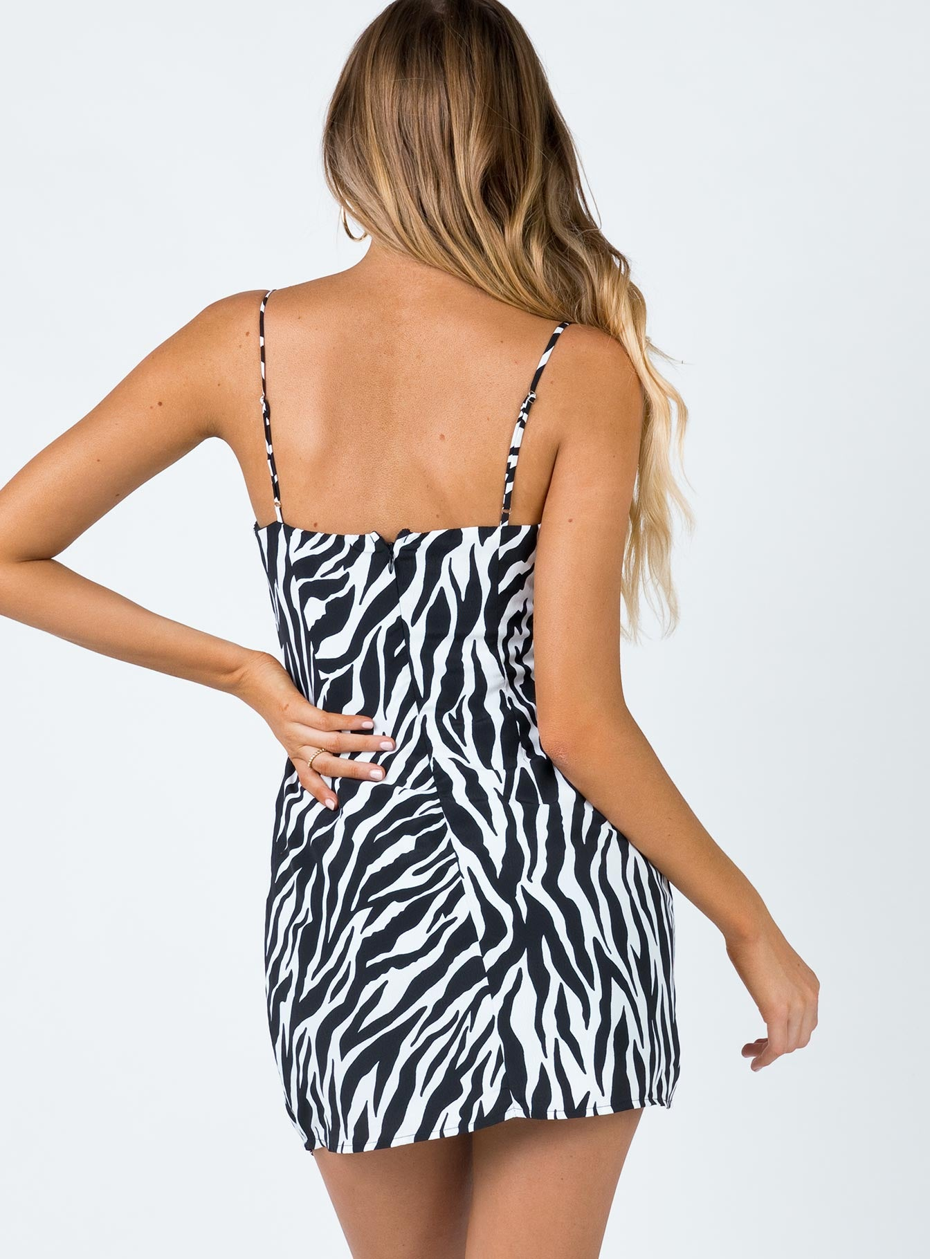 In The Wild Mini Dress Black/White