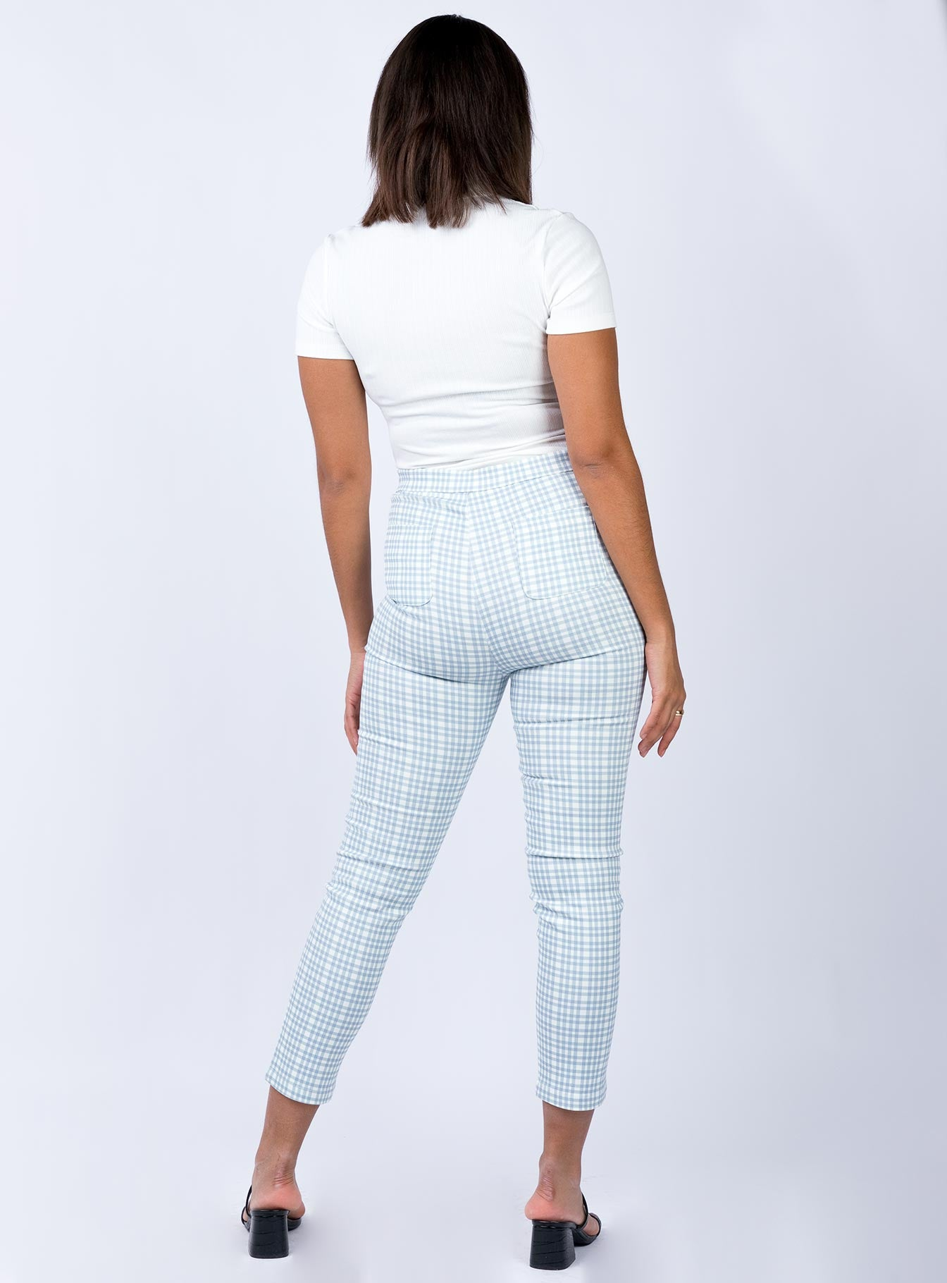 Crotone Pants Blue Check
