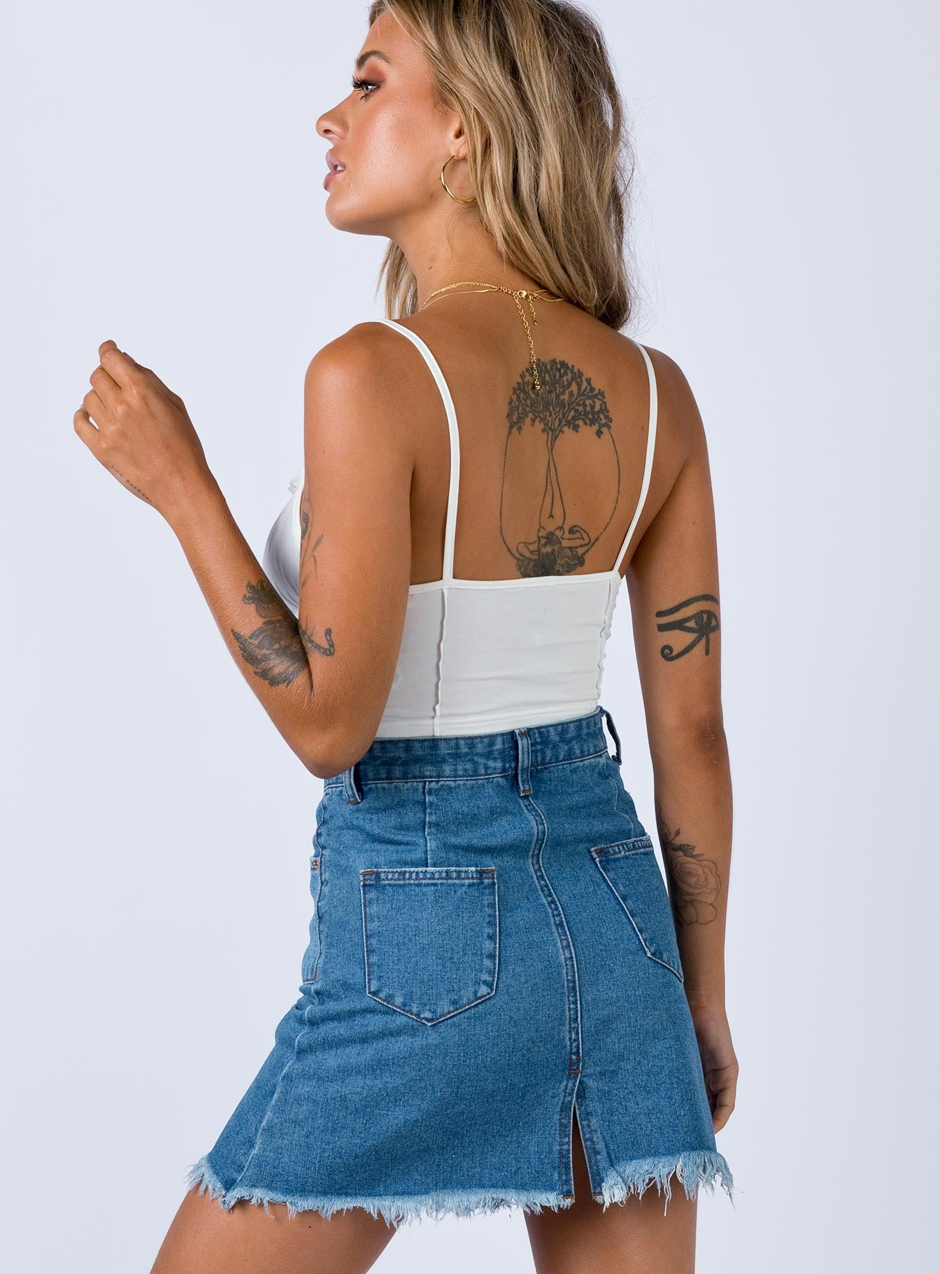 Jayden Mini Skirt Denim