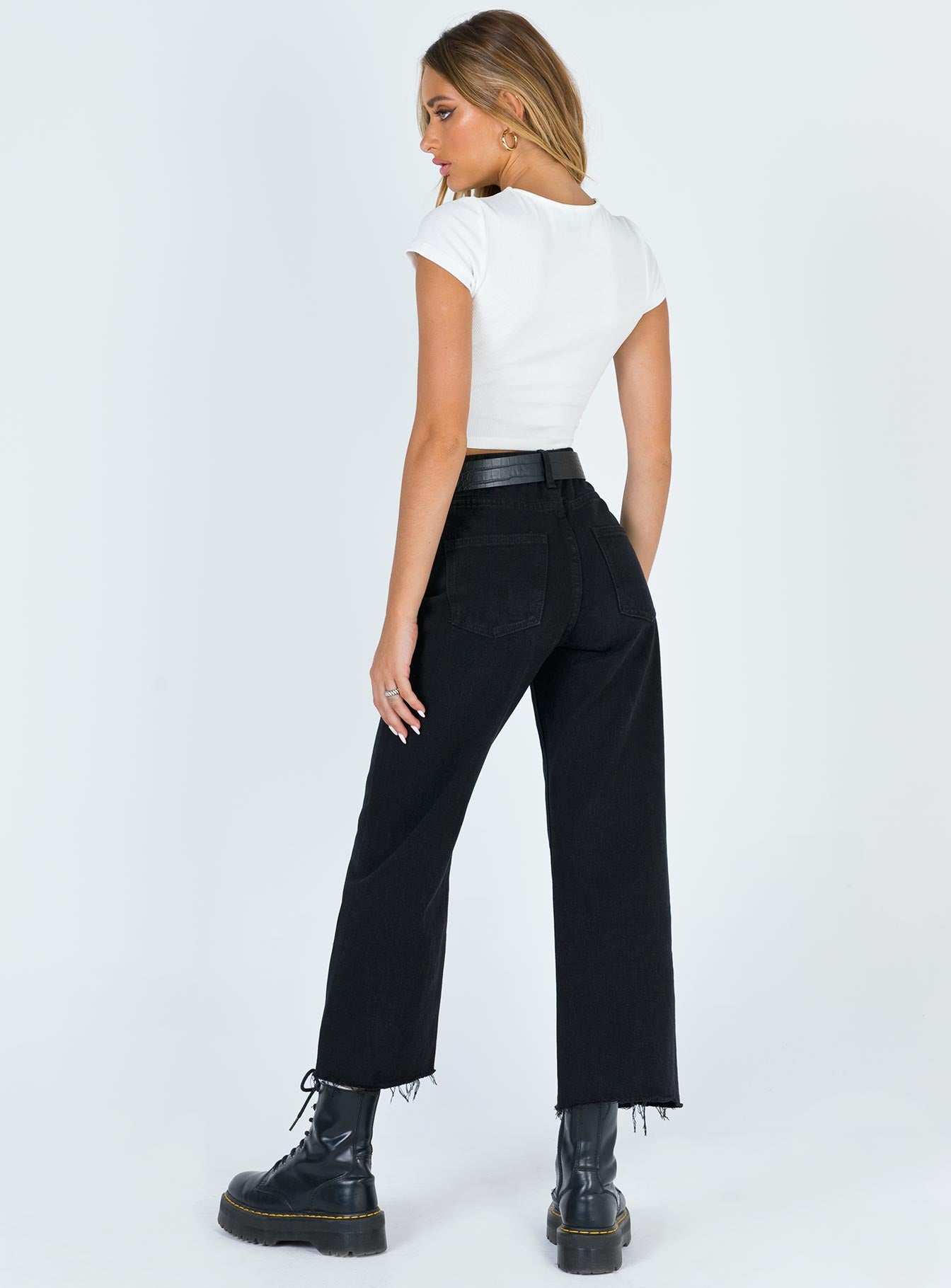 Ruby Cropped Jean Black Denim
