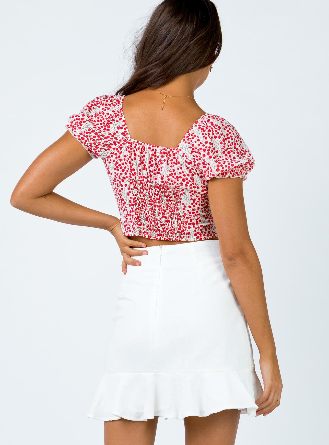 Roosky Mini Skirt White