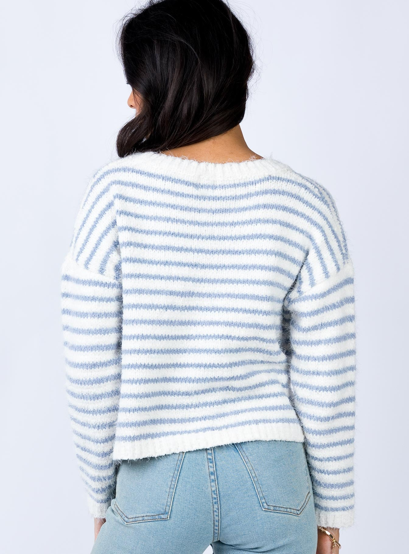 The Acton Jumper White/Blue