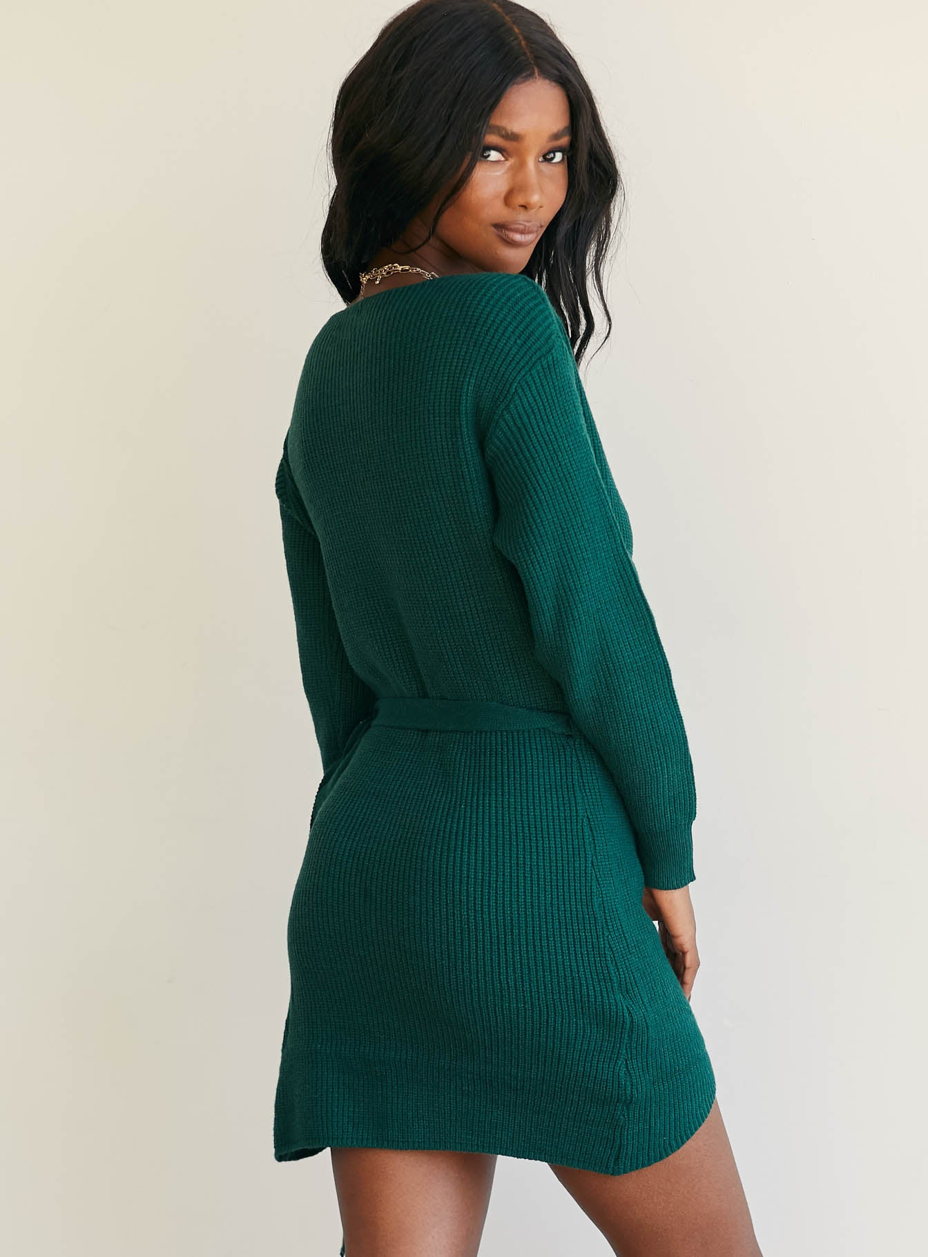 Phenix Mini Dress Forest Green