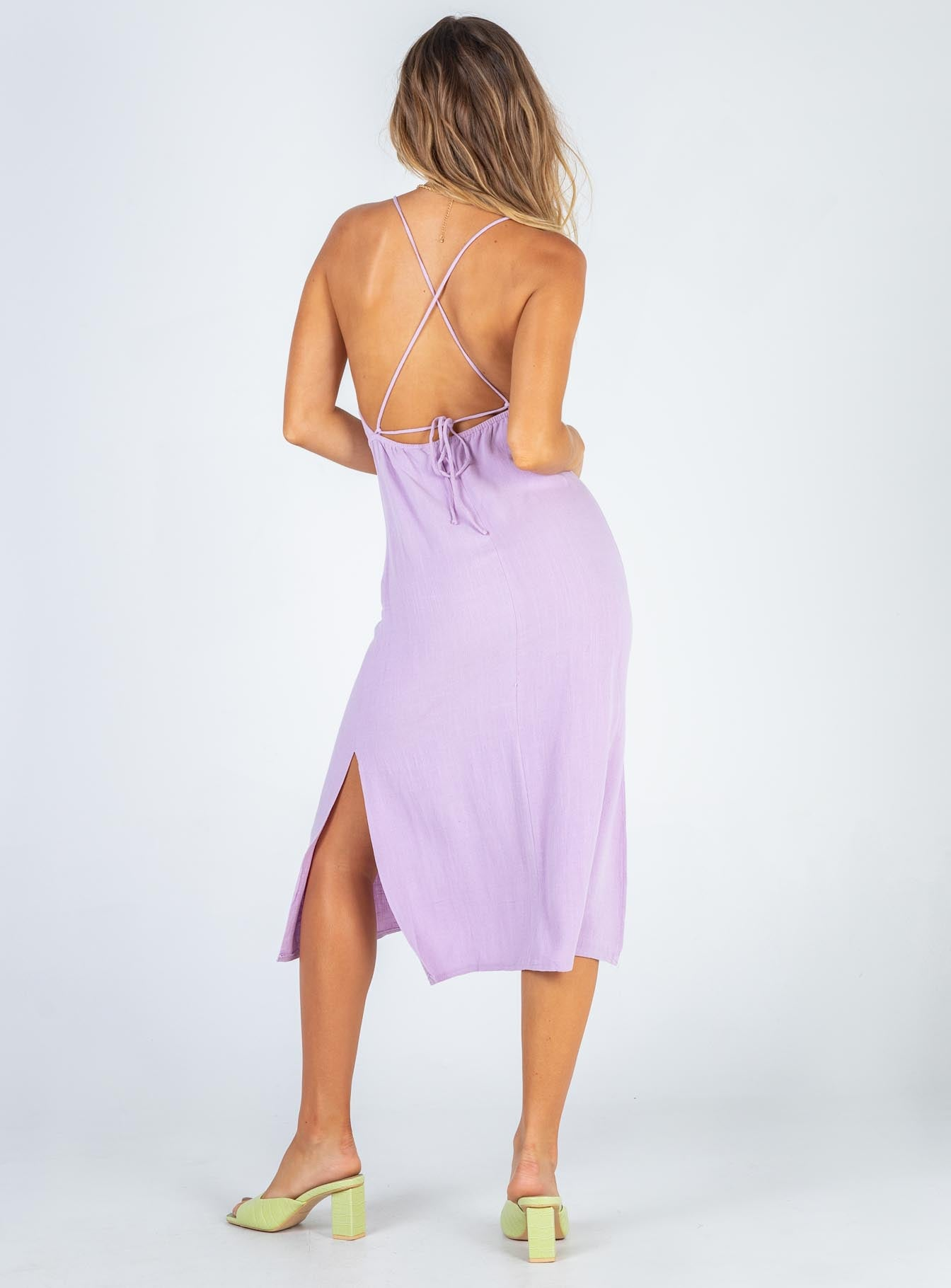 Sinclair Midi Dress Purple