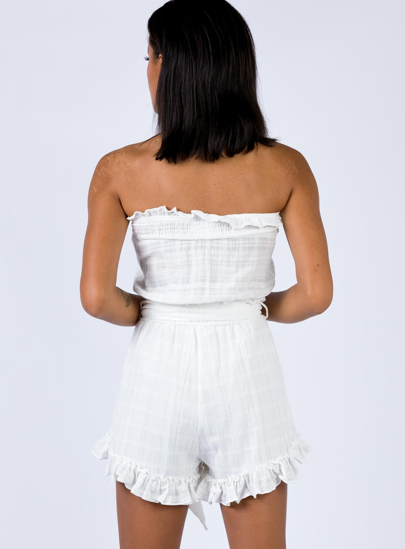 Karlsen Playsuit White