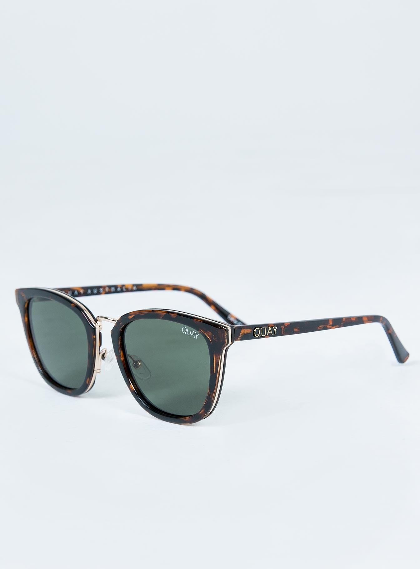 Quay Australia Tort Run Around Sunglasses