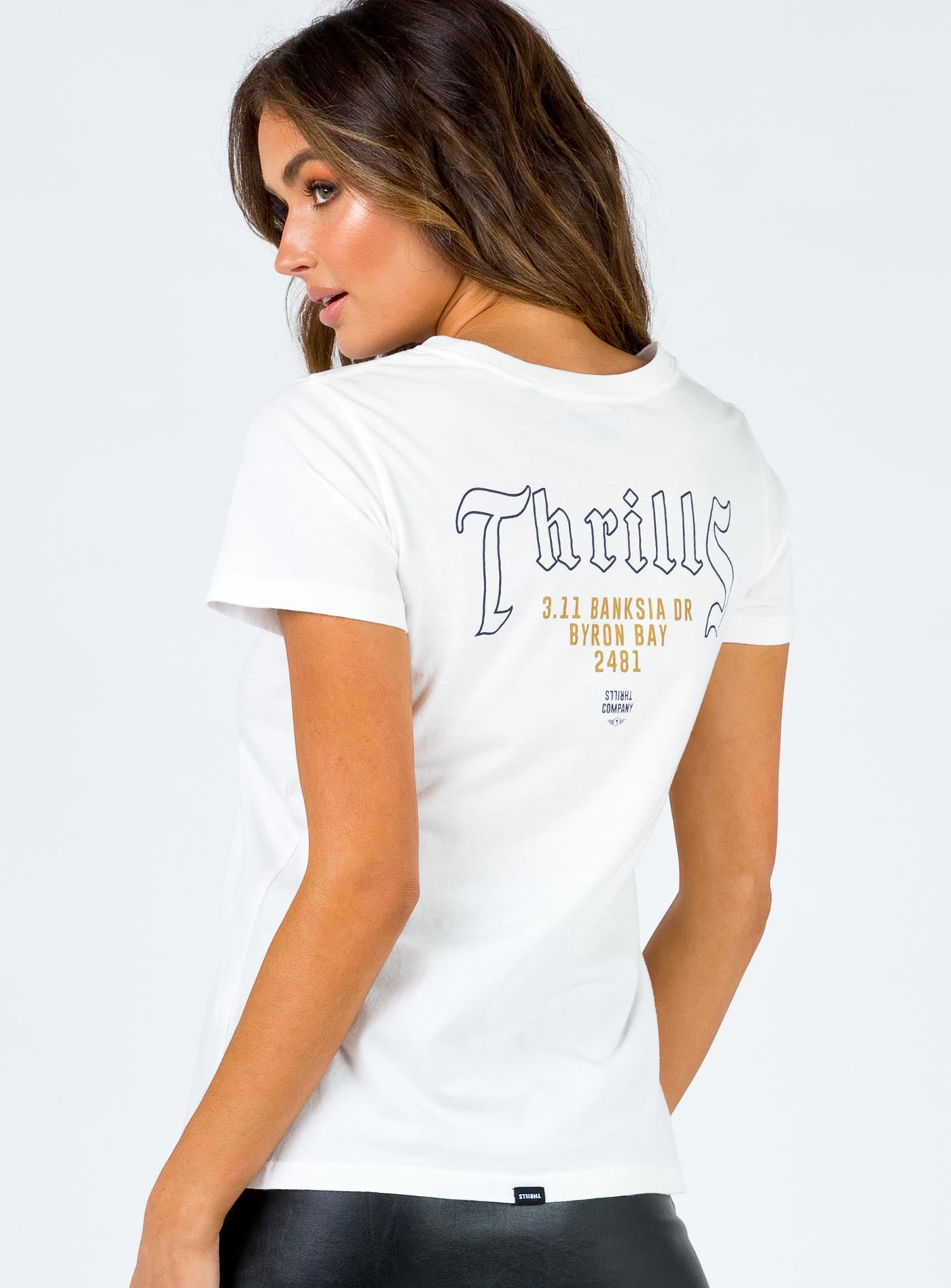 Thrills Live Free Or Die Band Tee Dirty White