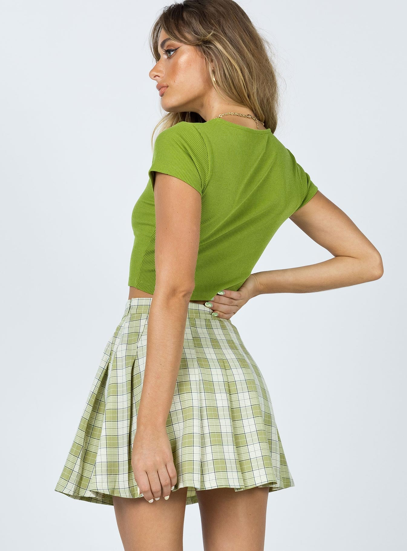 Carrie Mini Skirt Green