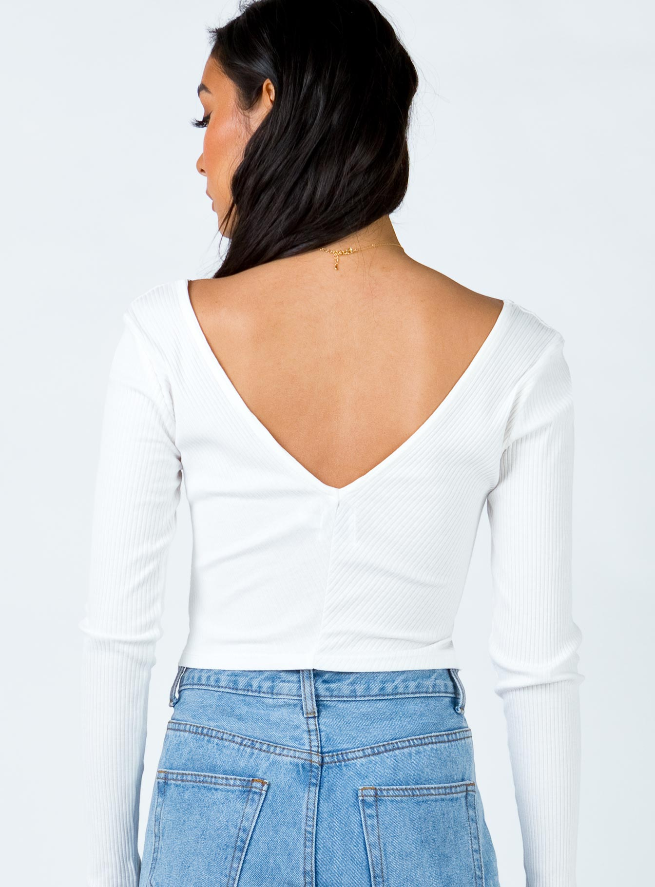 The Nola Top White