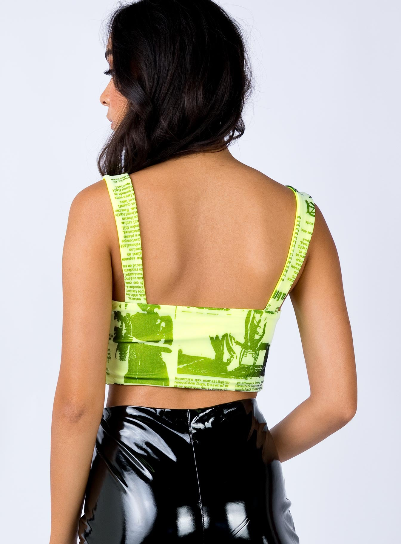 Odyseey Crop Top Neon Yellow