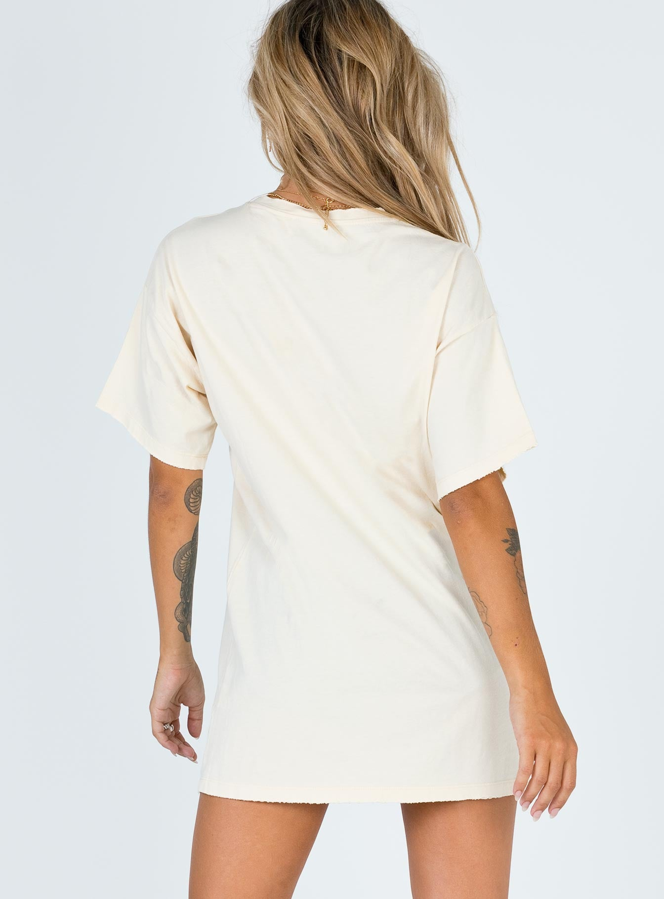 Thunderstruck Tee Mini Dress Cream