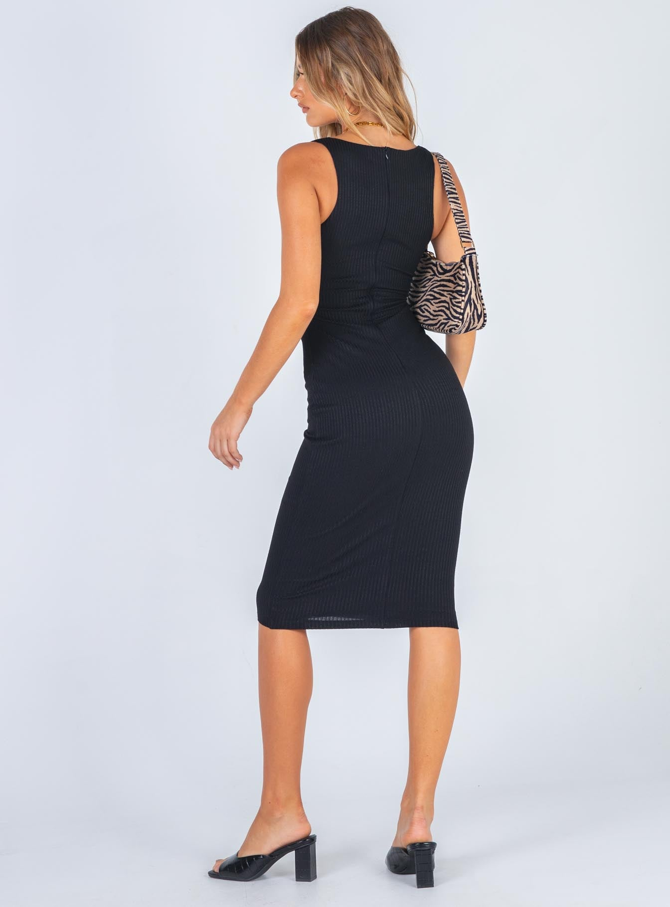Trisha Midi Dress Black