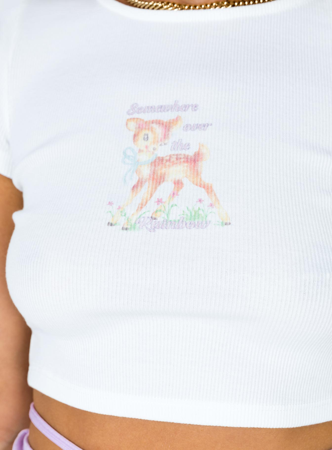 Oh Deer Graphic Tee White
