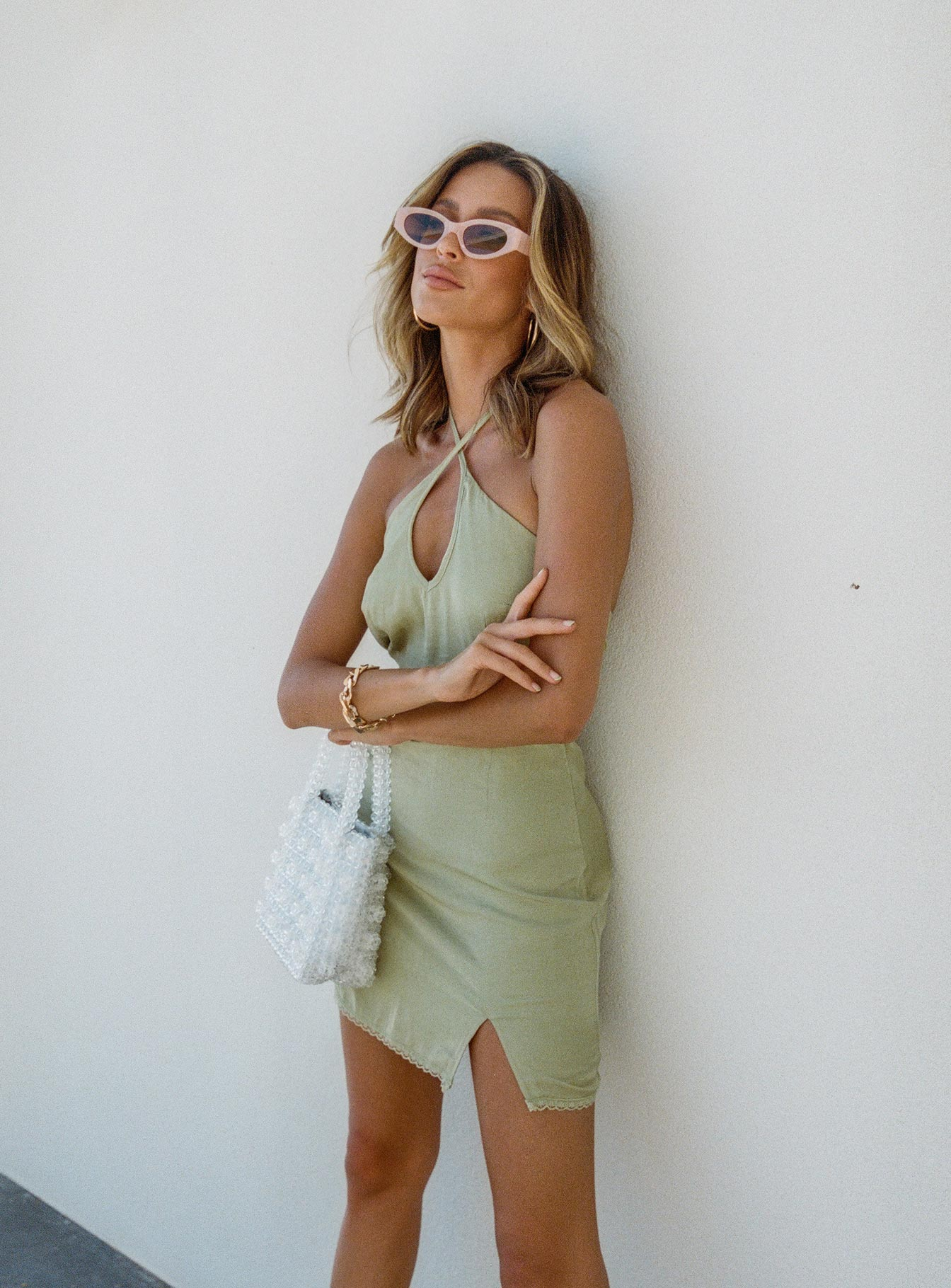 Cindy Mini Dress Sage