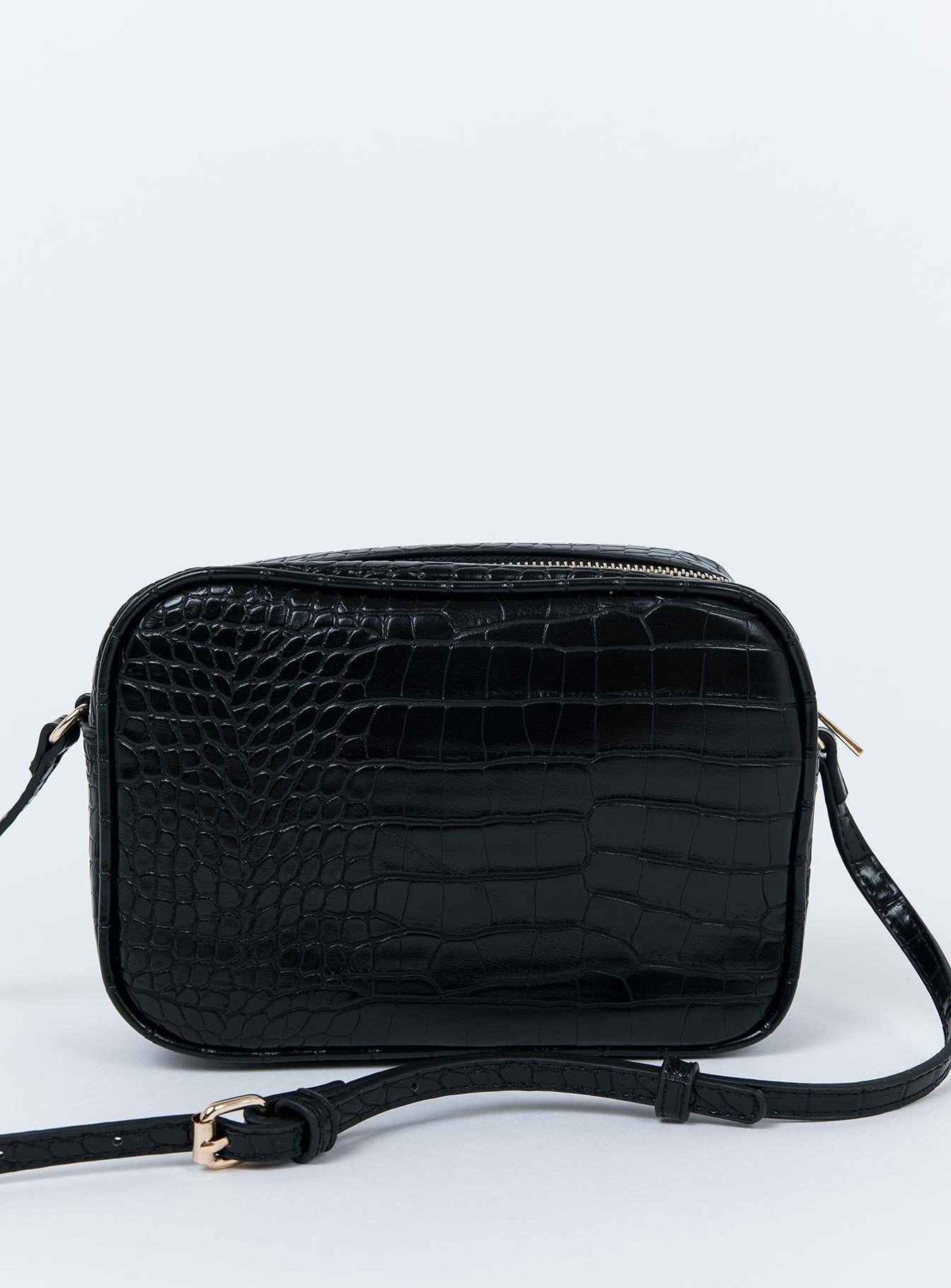 Peta & Jain Gracie Shoulder Bag Black Croc