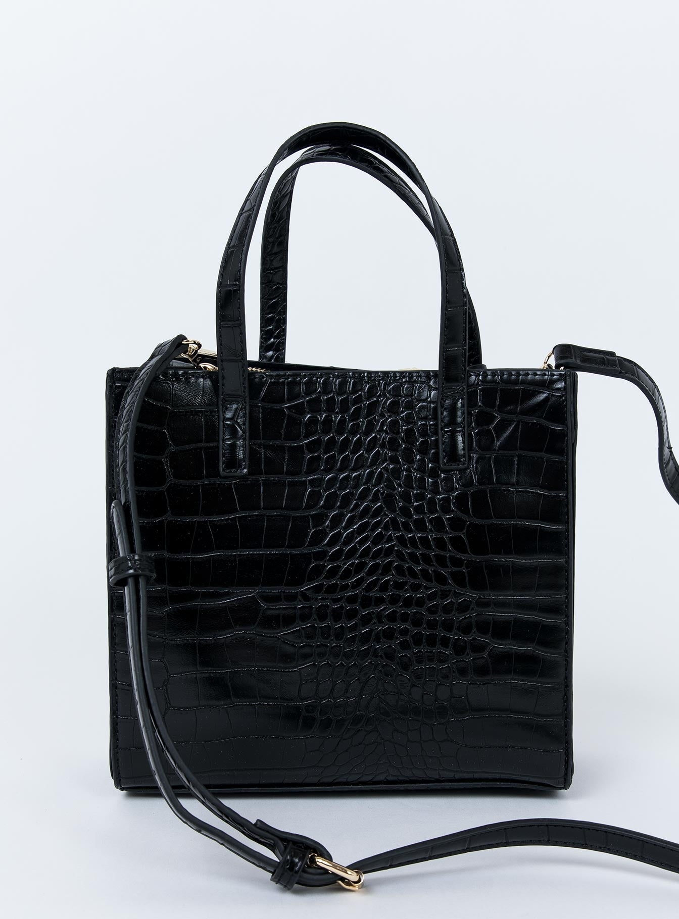 Peta & Jain Macey Bag Black Croc
