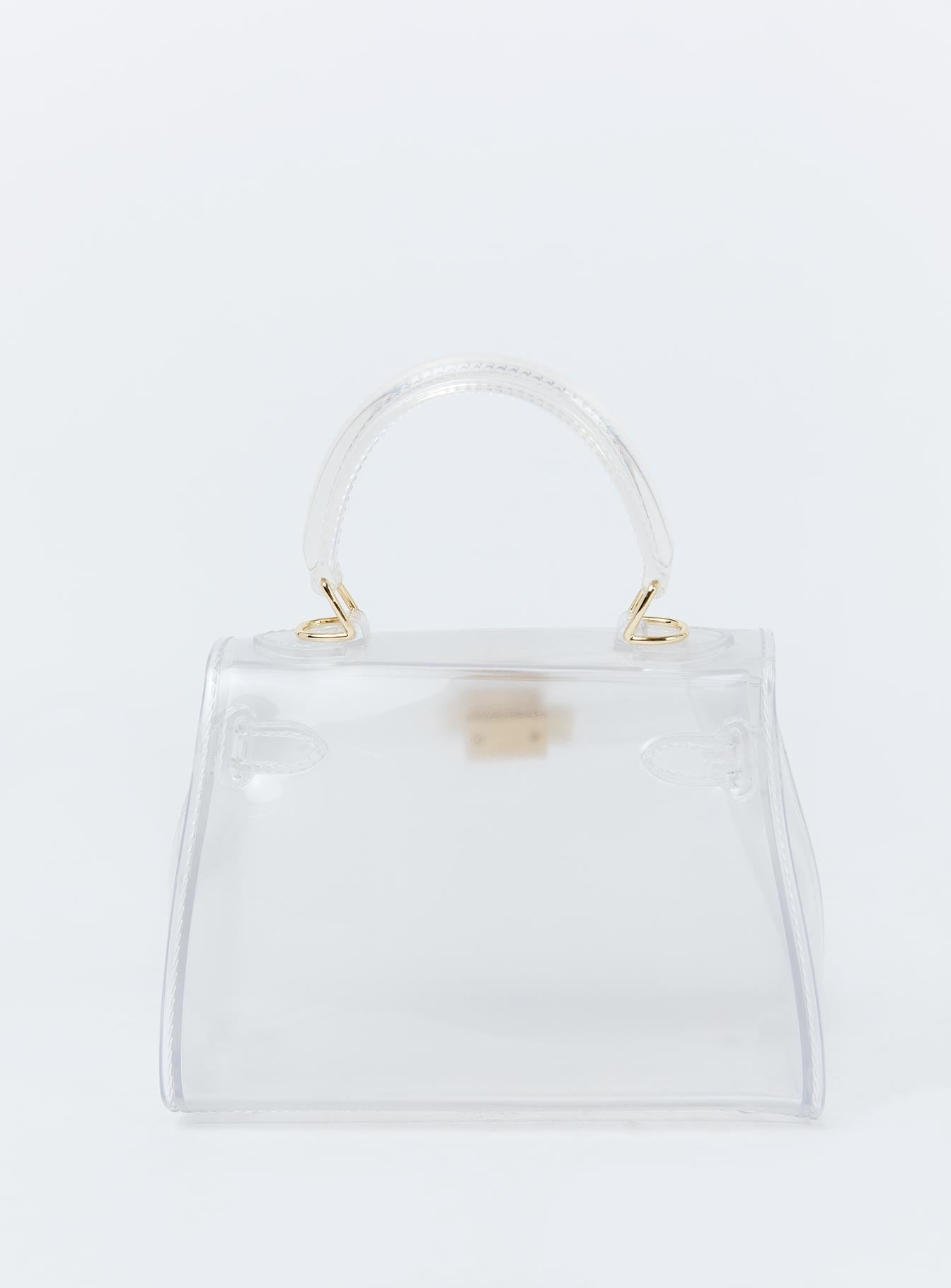 Peta & Jain Hailey Transparent Top Handle Bag Clear