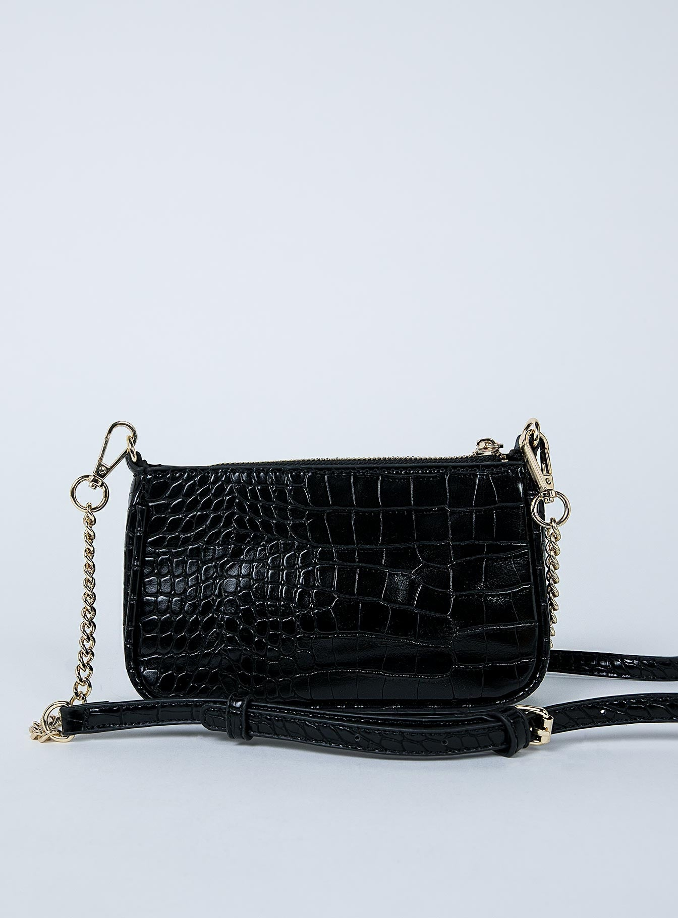 Peta & Jain Madrid Bag Black Croc