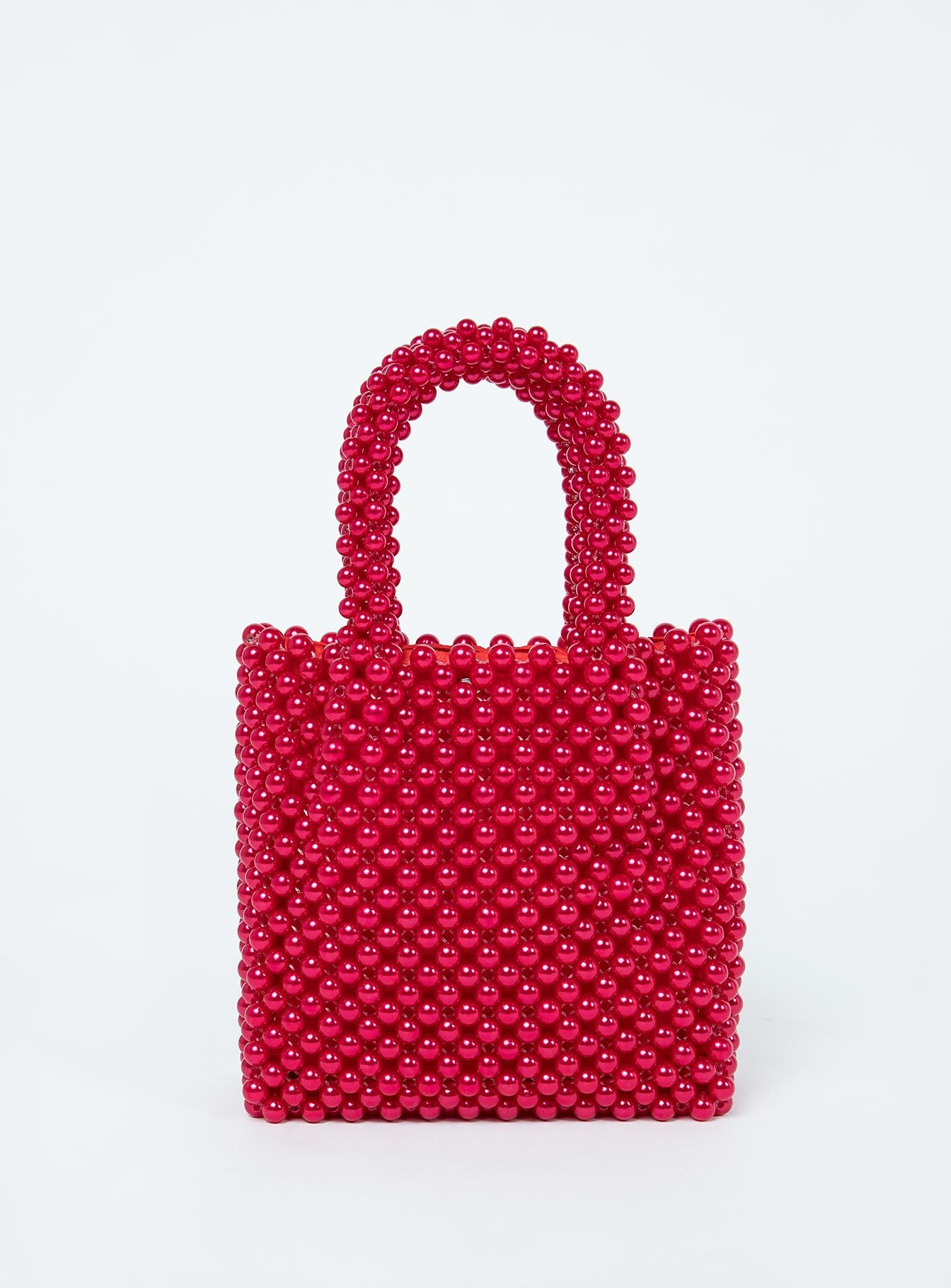 Gretta Beaded Bag Red