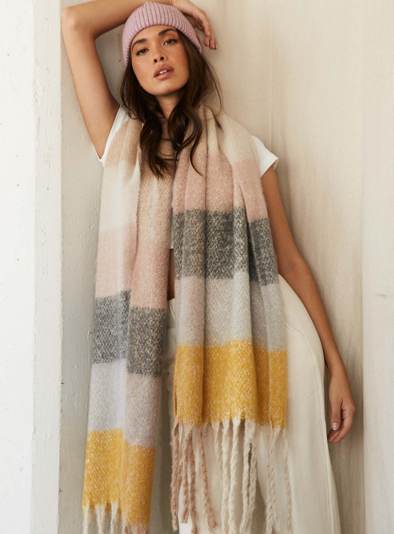 Colorado Oversized Scarf Pastel Multi