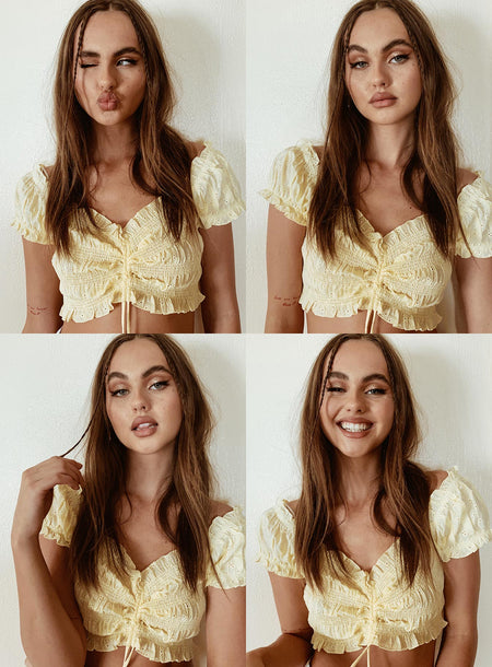 Elmera Top Lemon Embroidery by Princess Polly, available on princesspolly.com for $43 Kendall Jenner Top SIMILAR PRODUCT