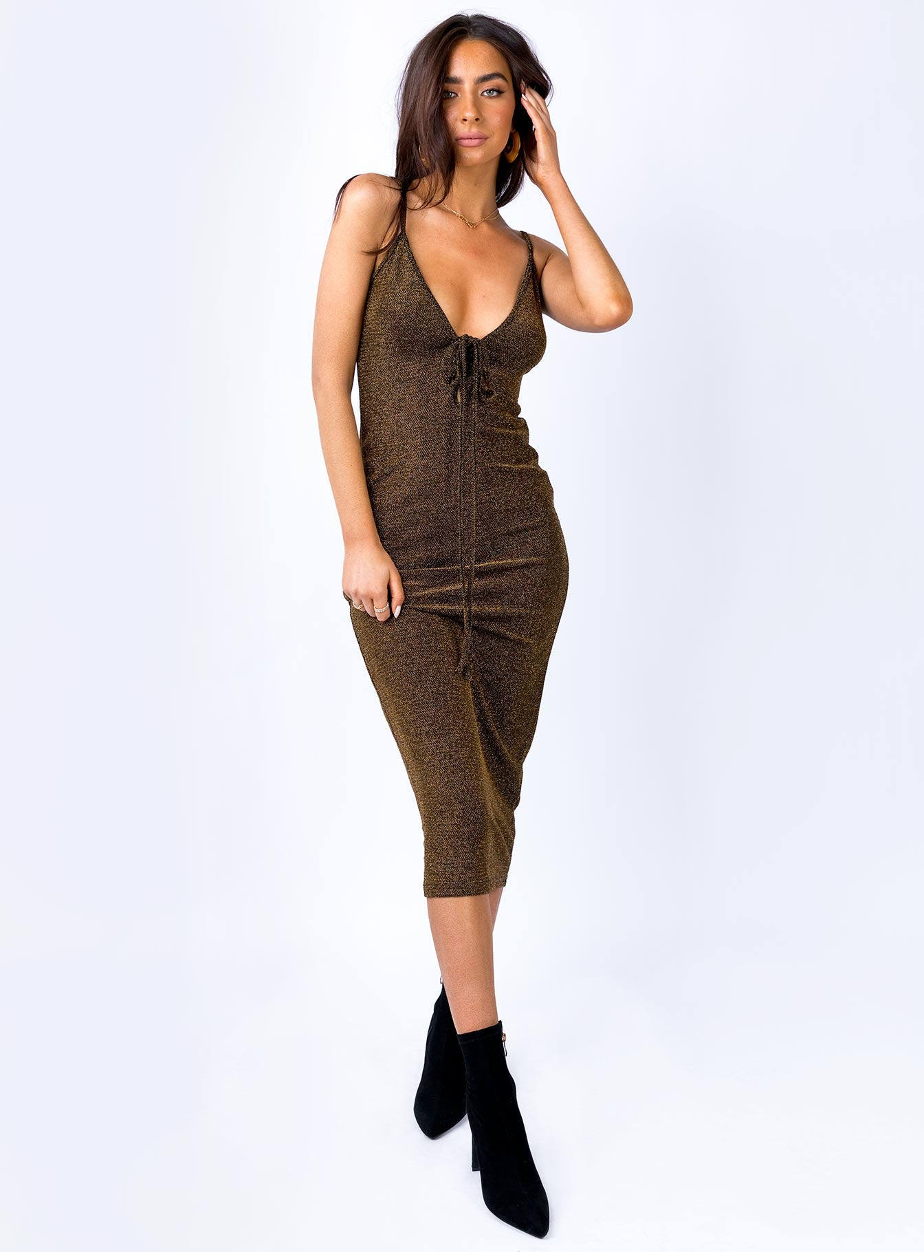 Fall In Love Midi Dress Bronze
