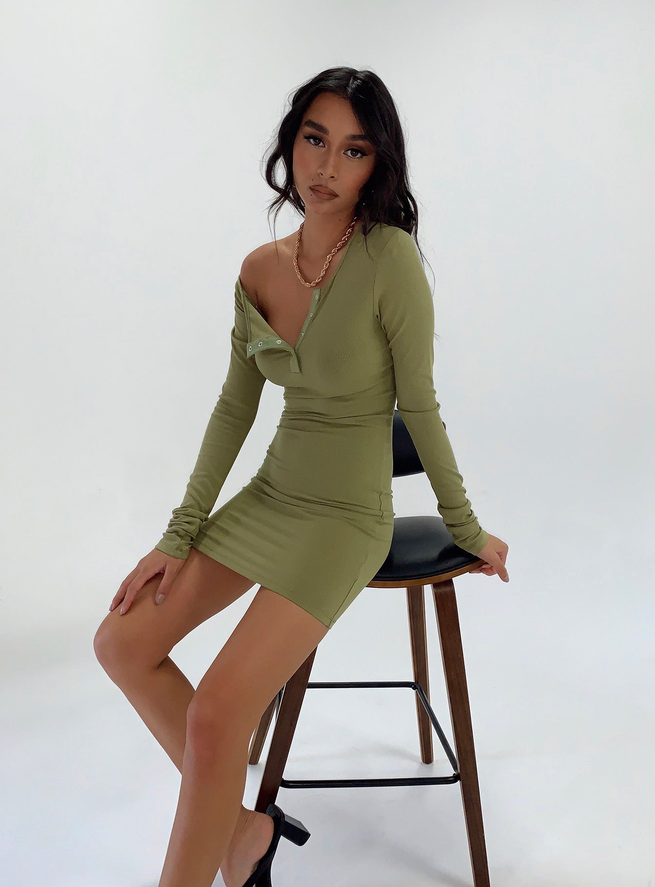 Gramercy Mini Dress Khaki