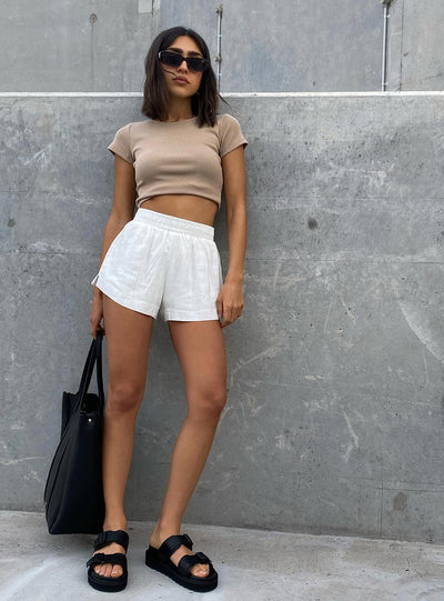 Beach House Shorts Off White