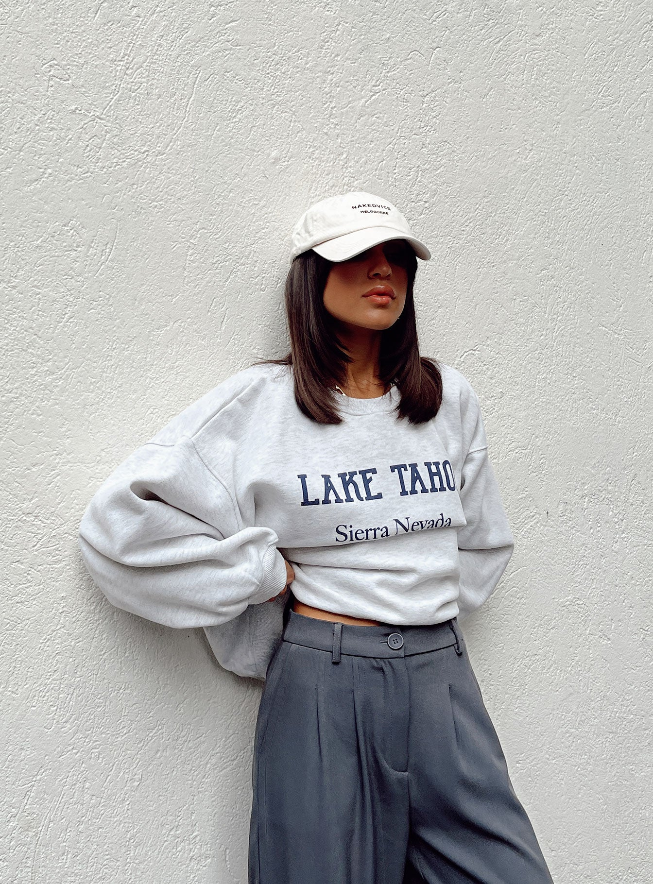 Lake Tahoe Crewneck Sweatshirt Grey
