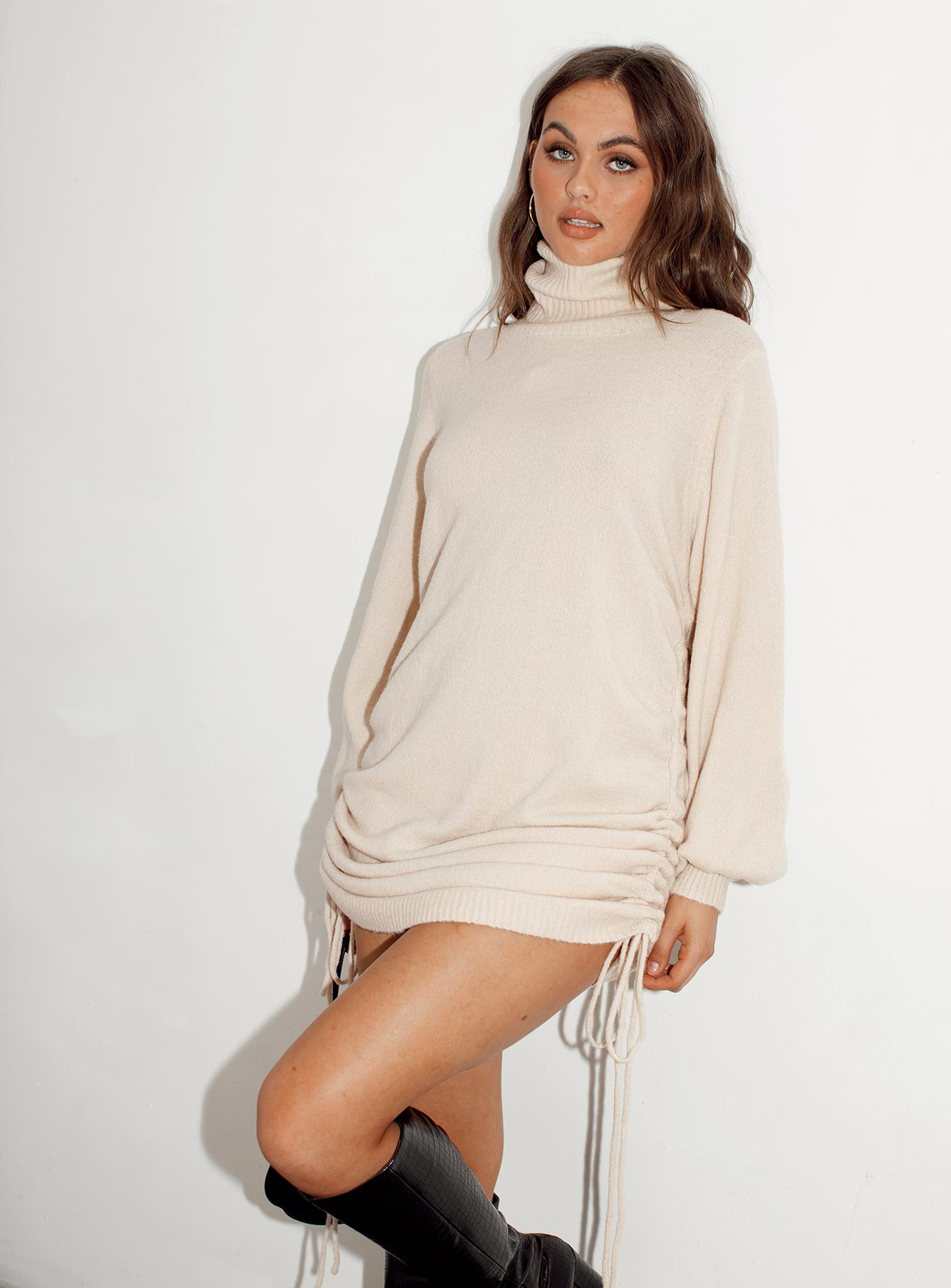Manhattan Mini Dress Beige