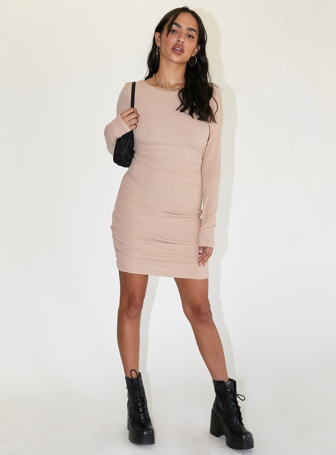 Newton Mini Dress Beige