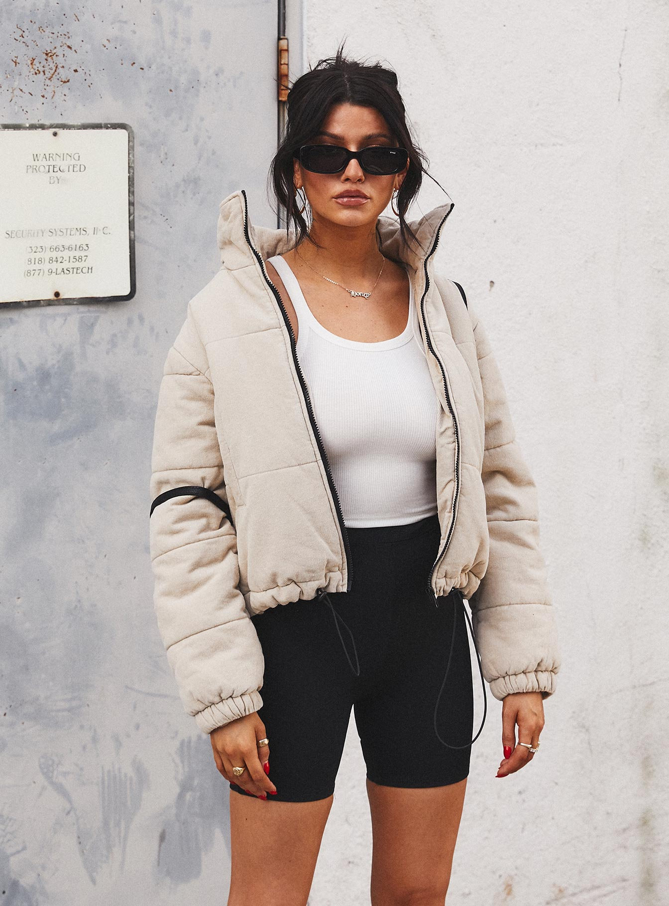 Polly Puffer Jacket Beige