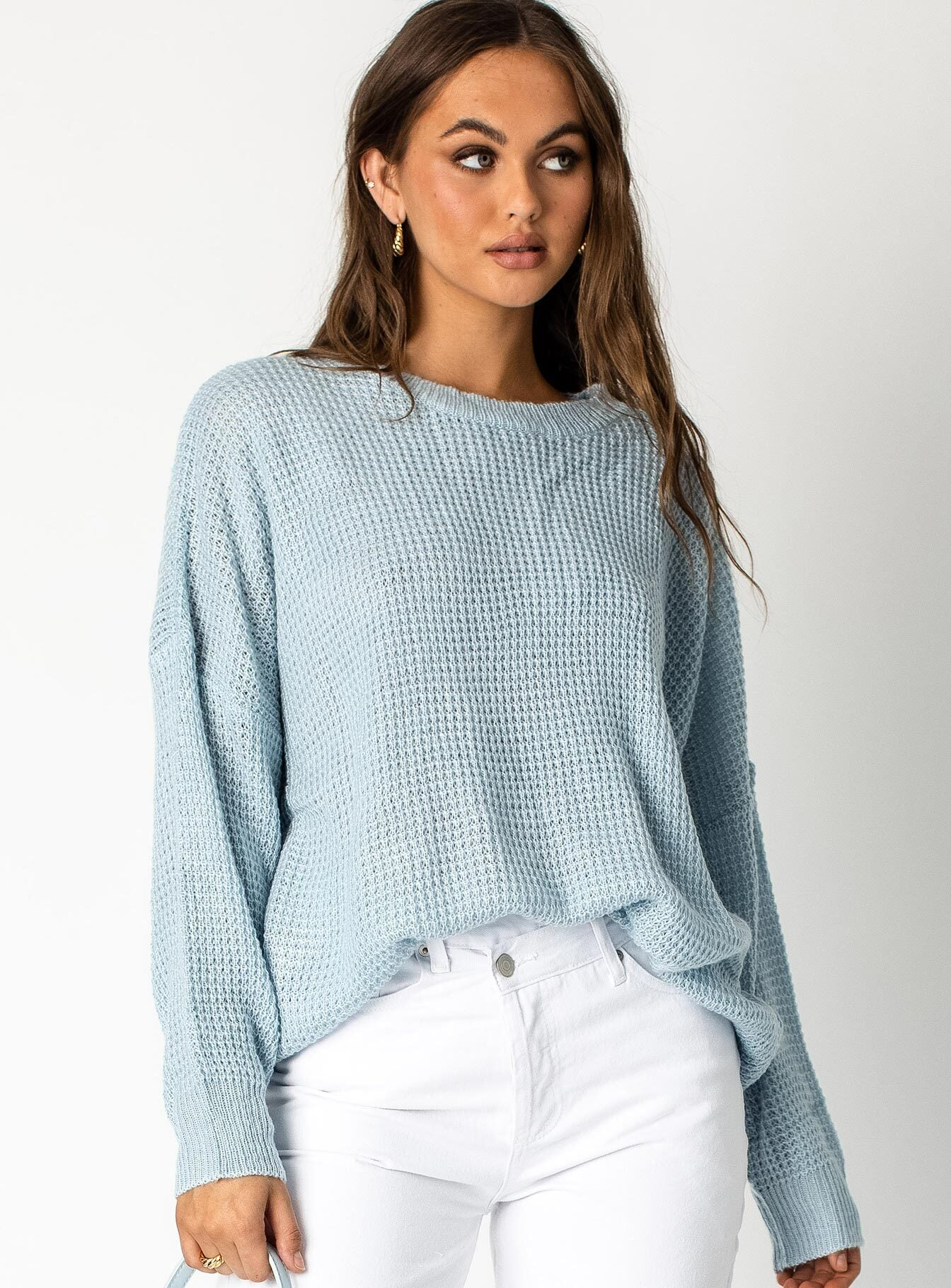 Monday Blues Oversized Sweater Blue