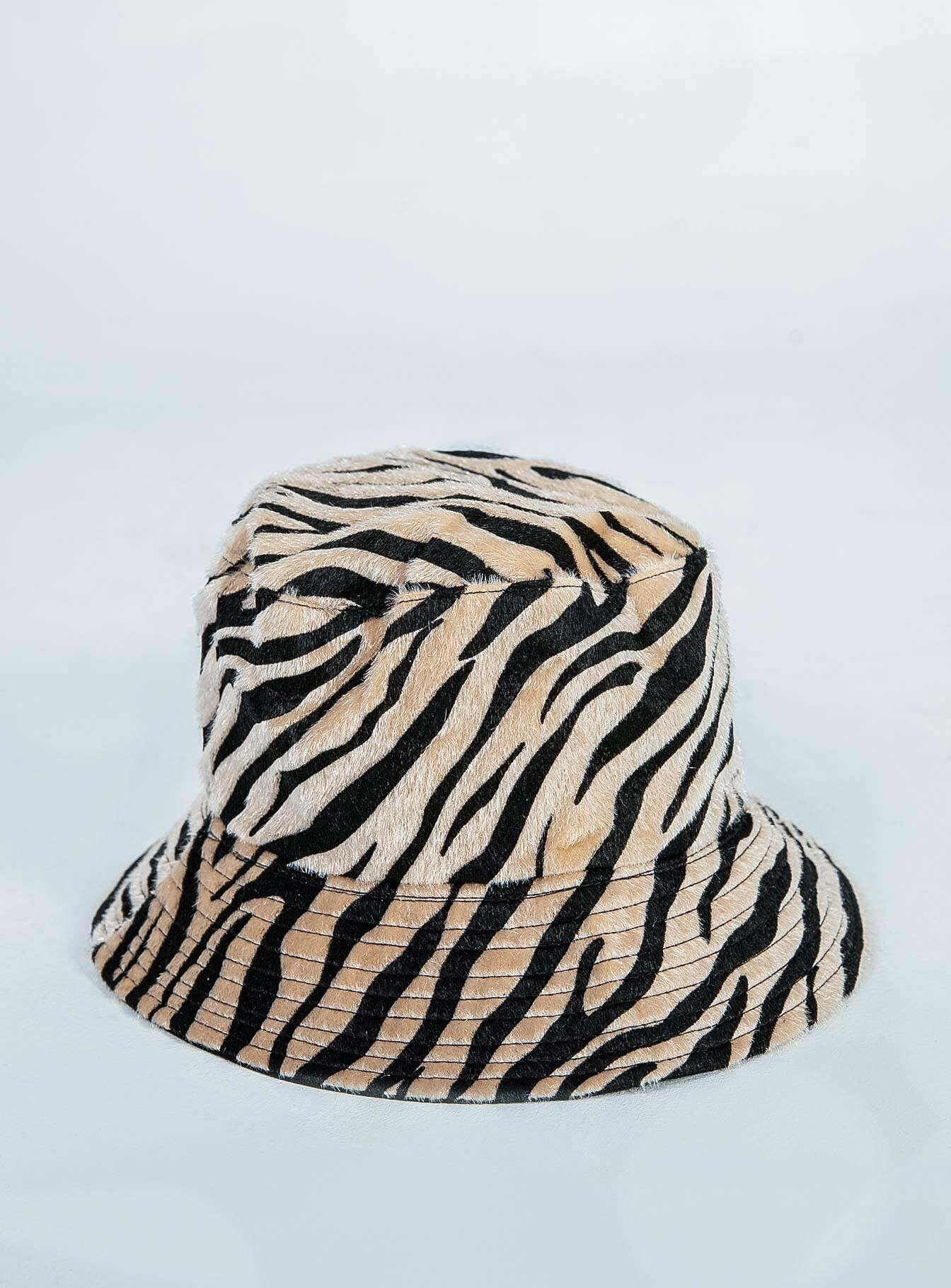 The Gina Bucket Hat Beige / Black